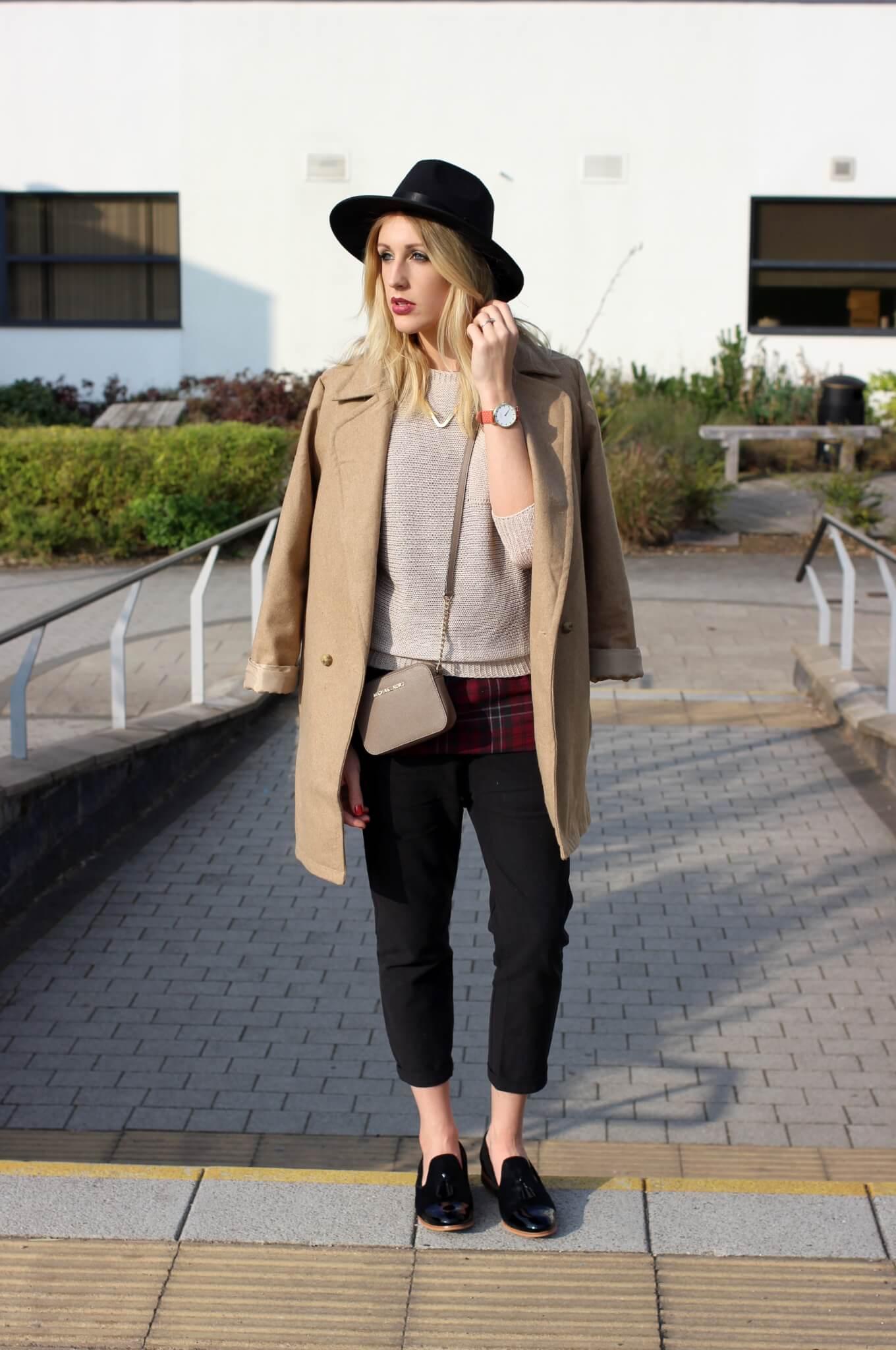 Autumn Essentials | Camel Coat, Fedora, Tailoring & Chic Flats