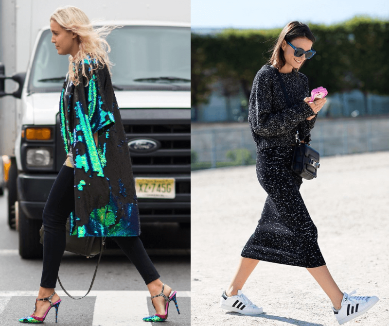 Street Style Sequins Oversized Knits Trainers Uk Fashion Blog High Street Style