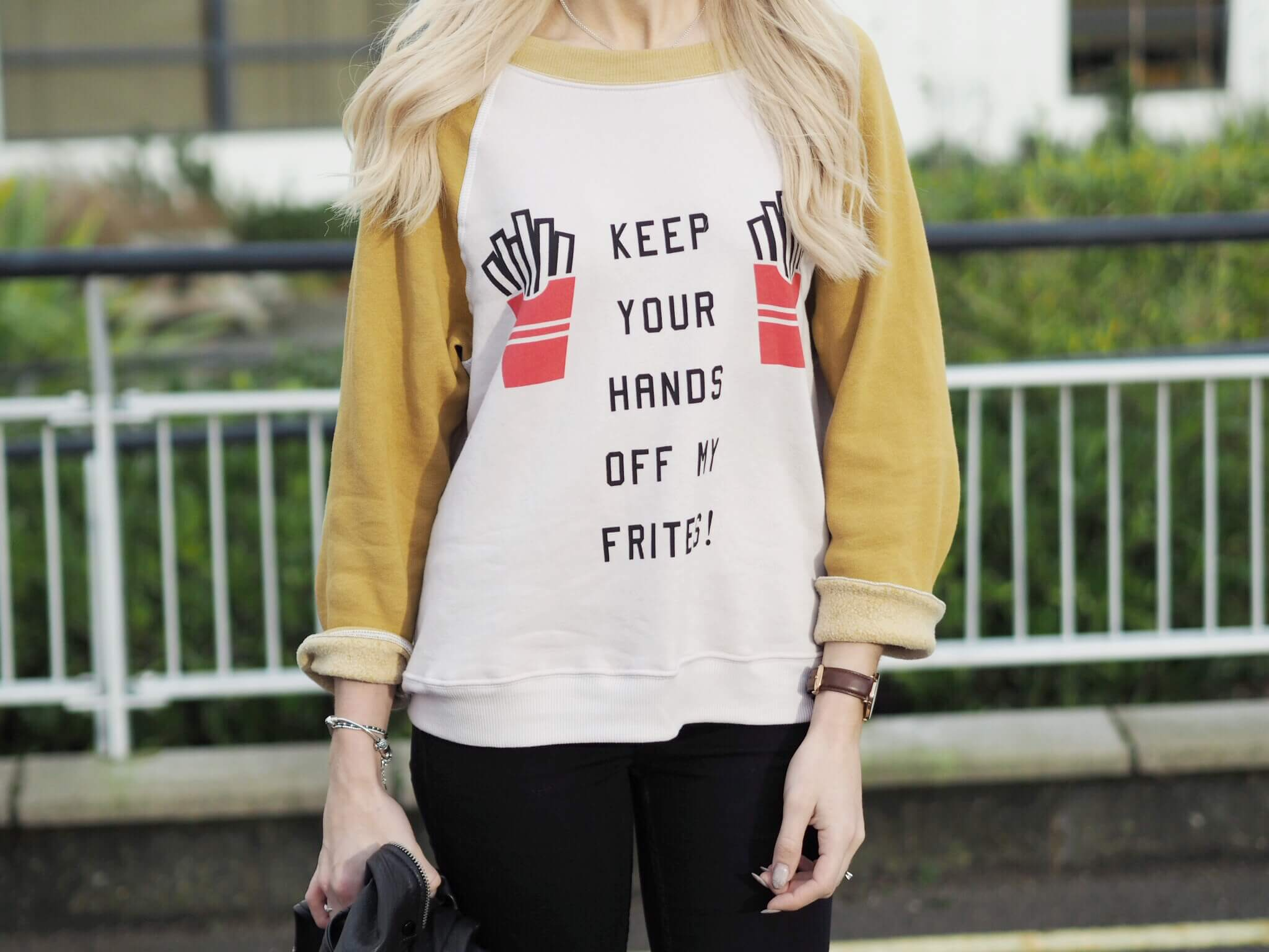 wildfox couture frites jumper on fashion blog
