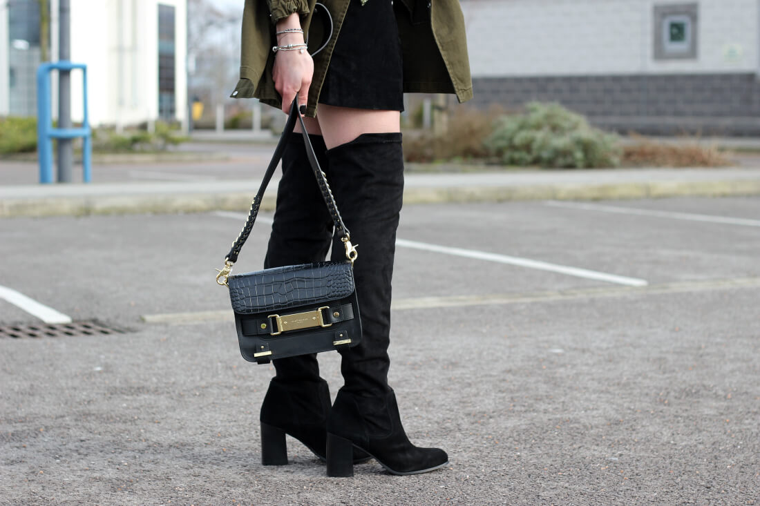Fashion blogger styling carvela and kurt geiger london from shoeaholics - street style inspiration knee boots