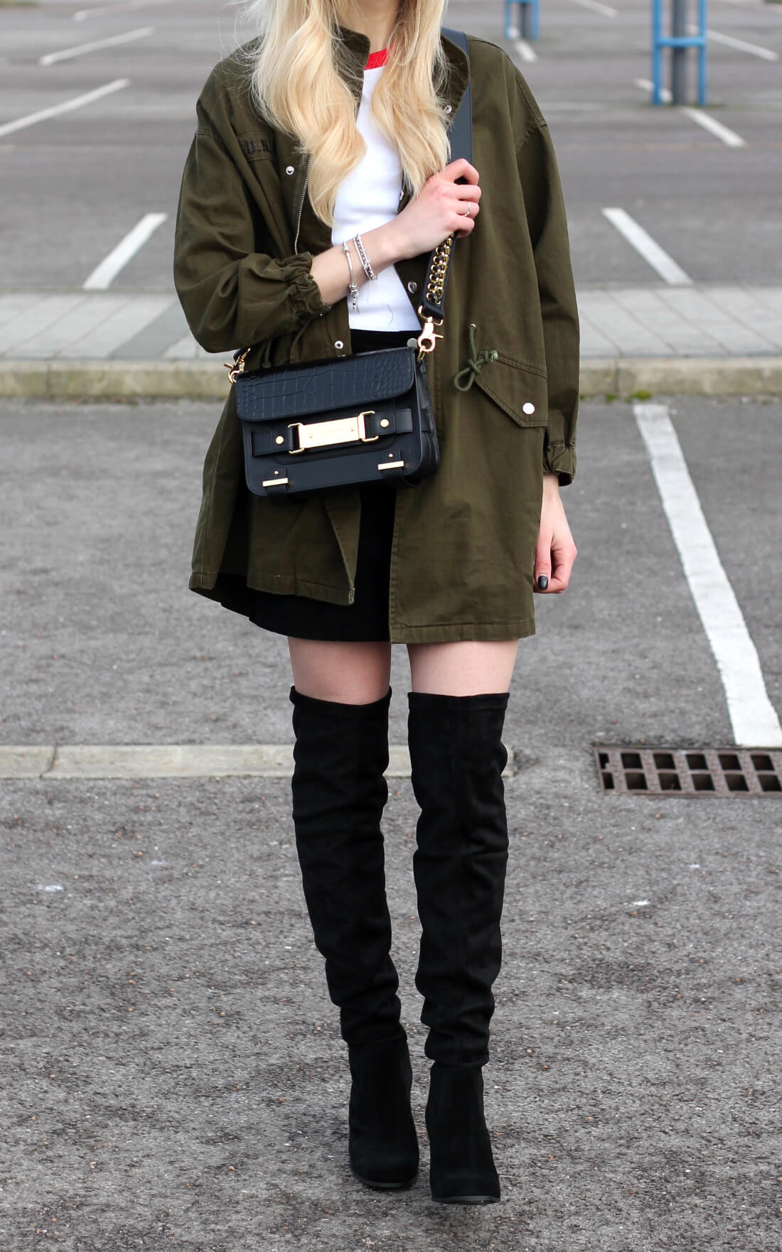 over the knee boots street style on fashion blog