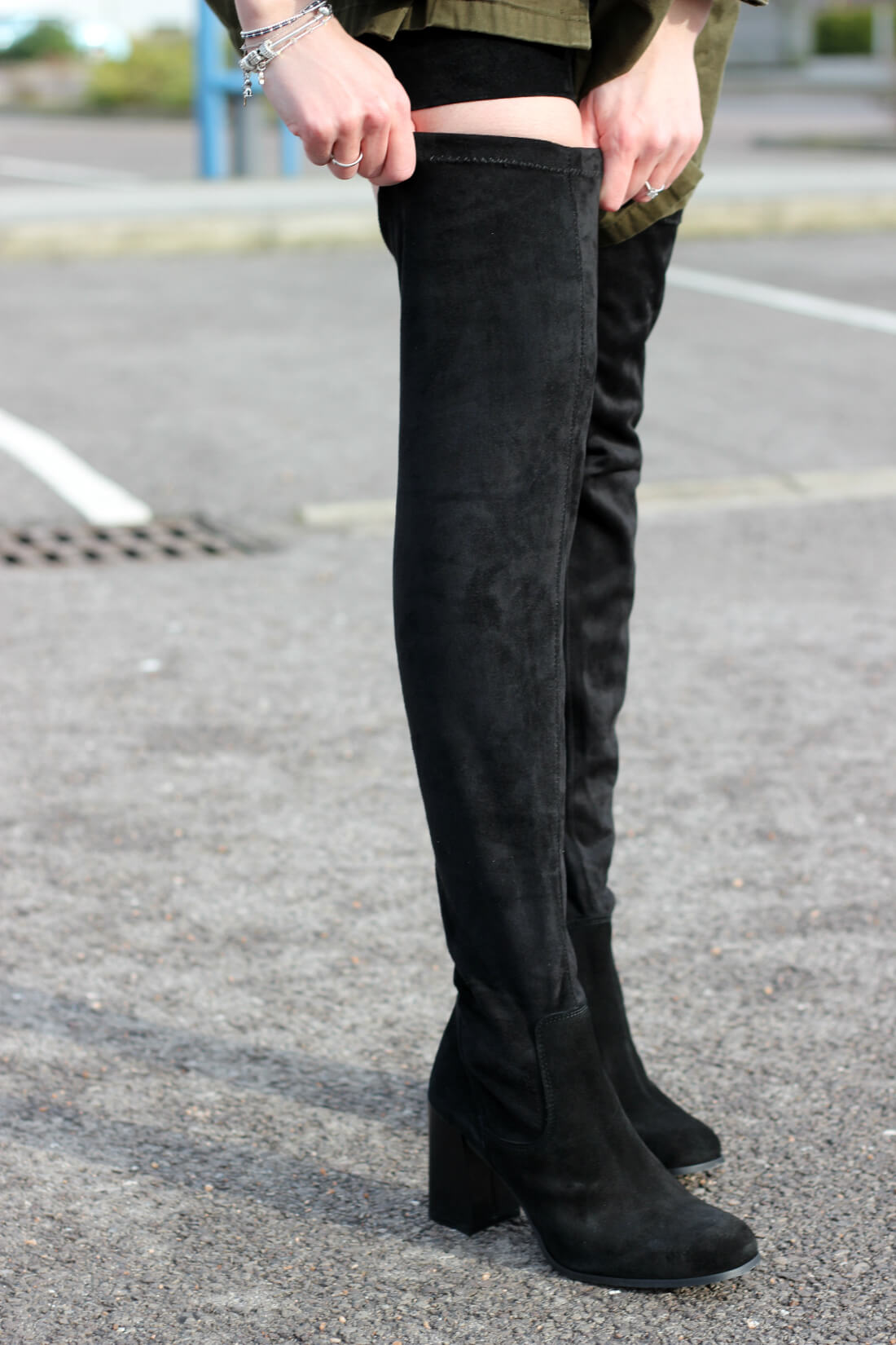 over the knee boots style inspiration from style blogger