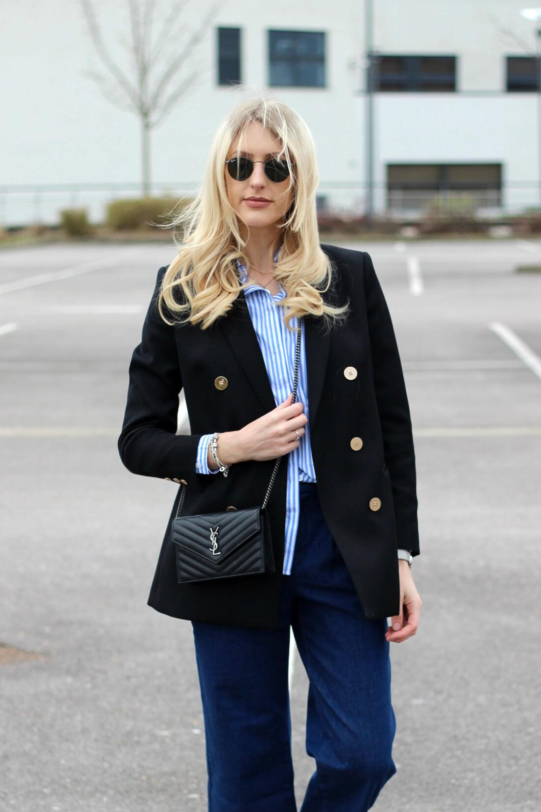 style blogger charlotte lewis in reiss blazer