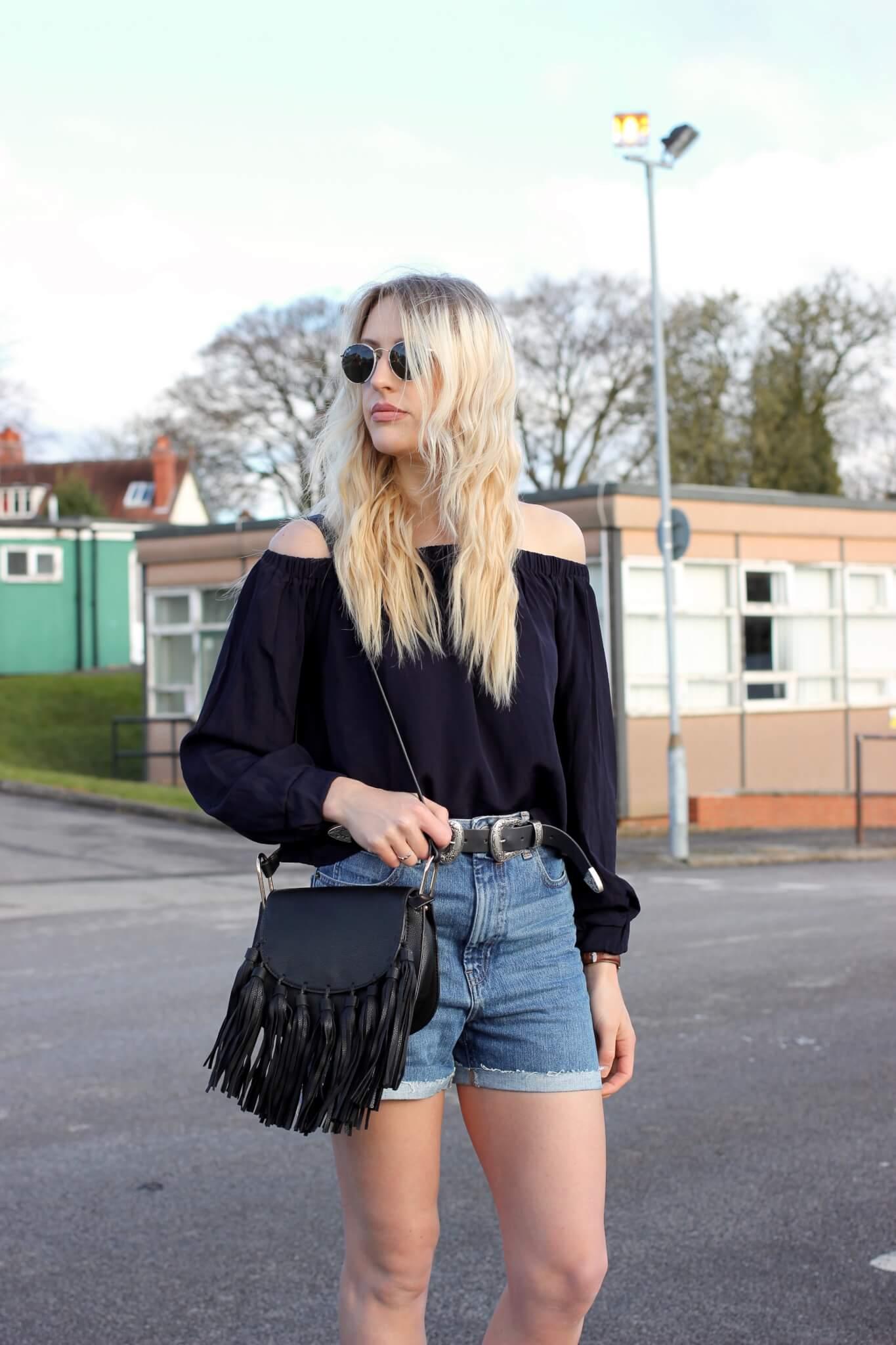 styling denim shorts for spring
