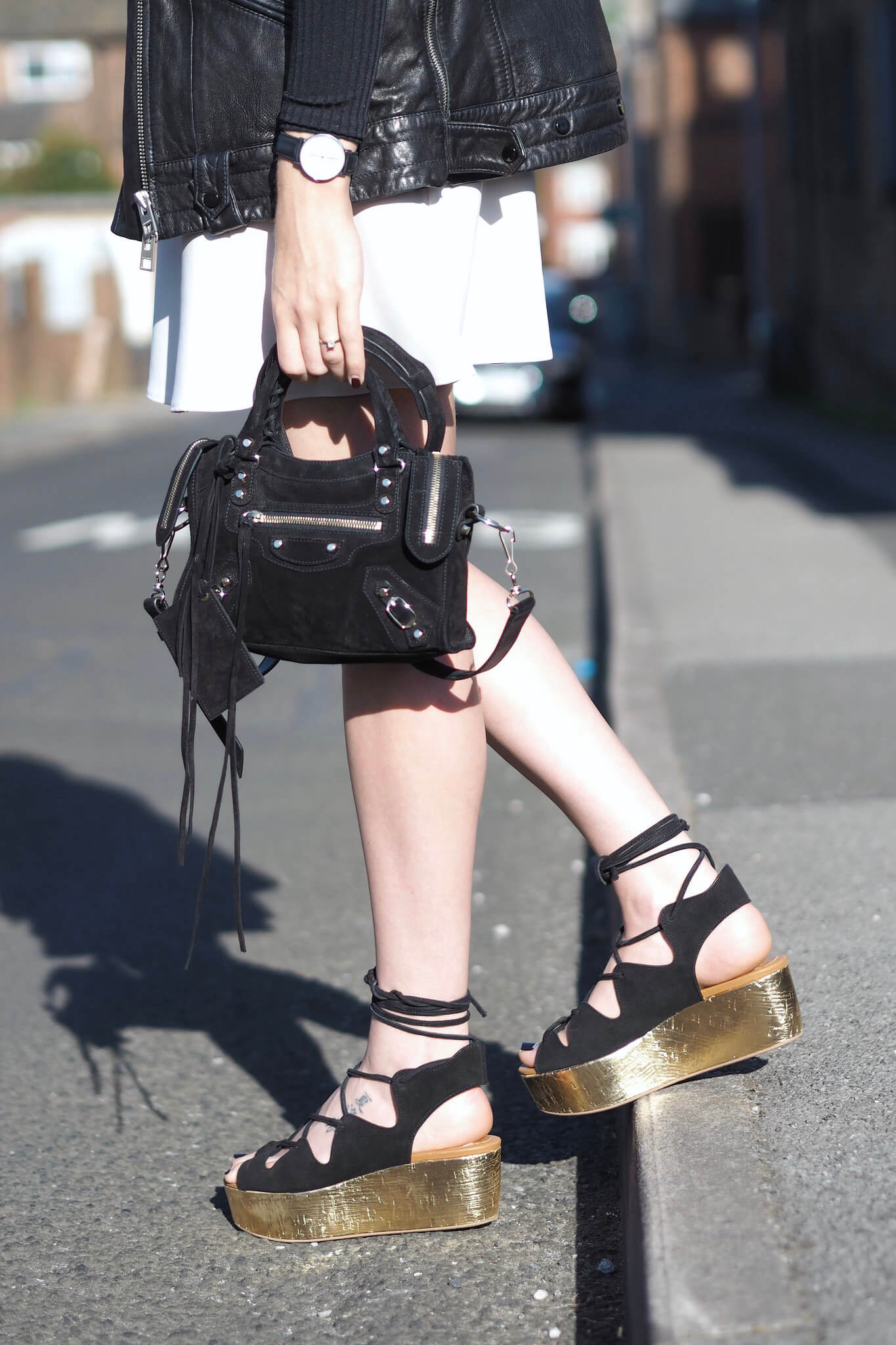 styling Chloe platform Sandals on fashion blog