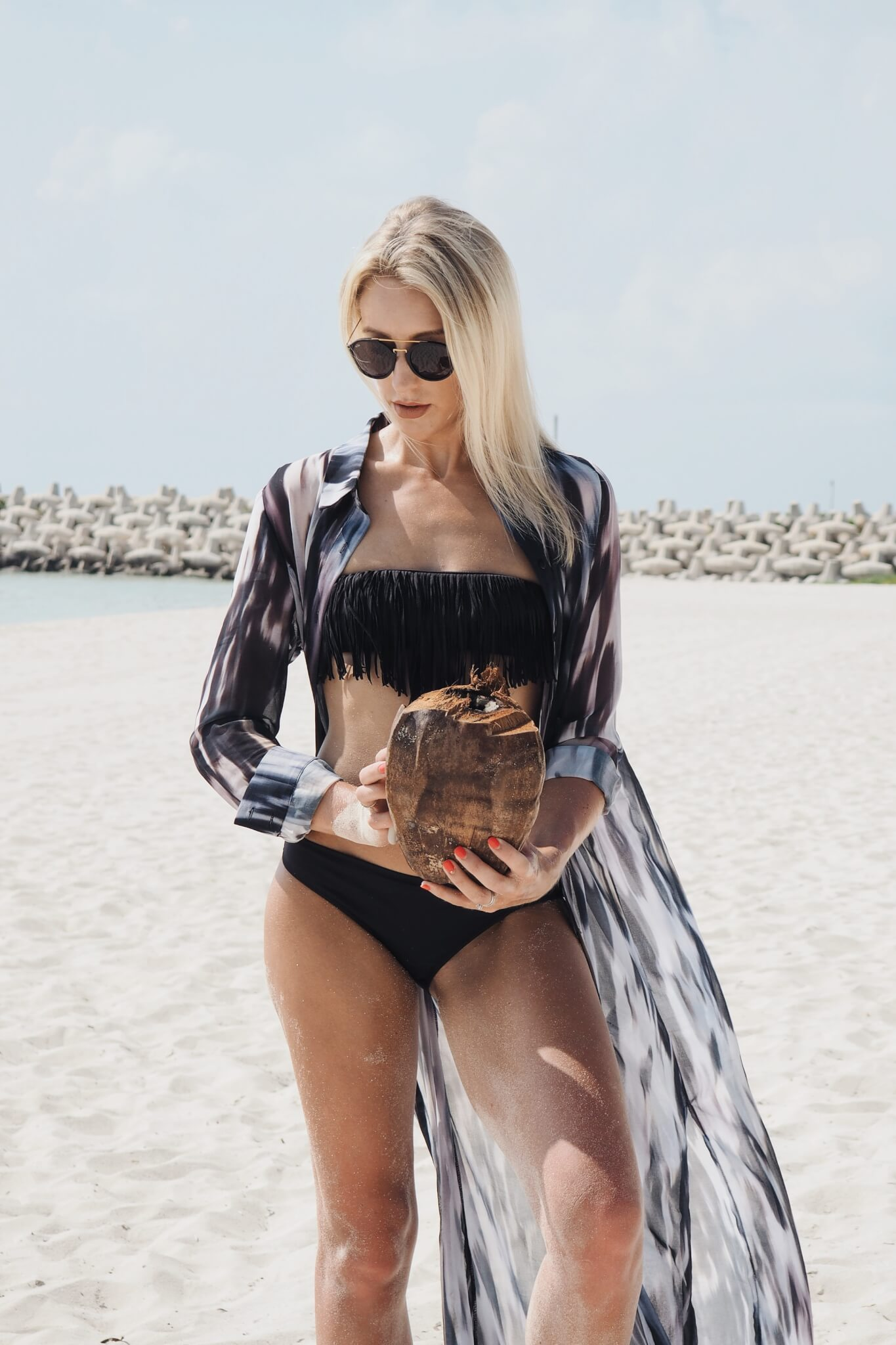 fashionable beach cover ups on style blog