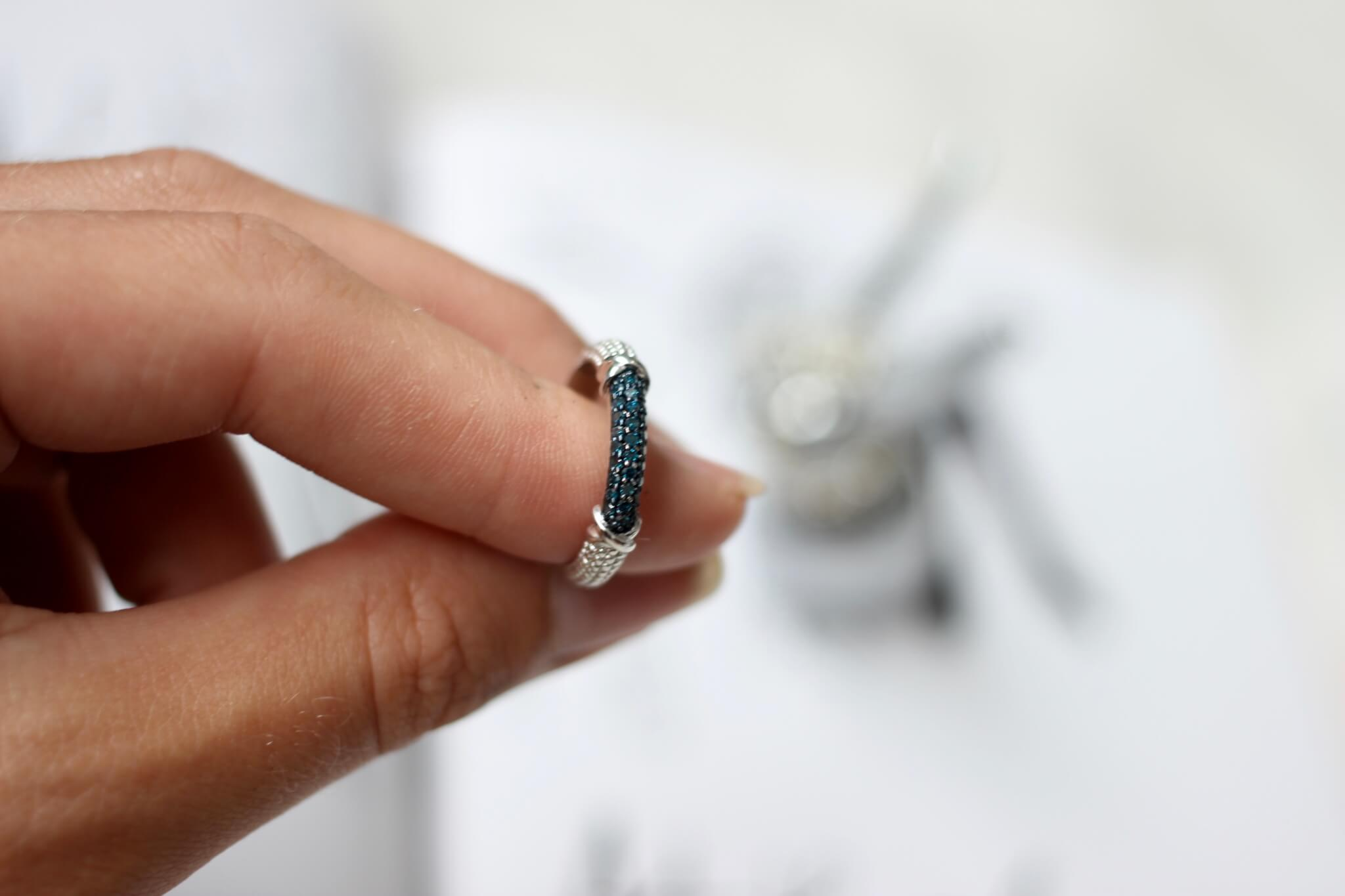 Gemporia Blue Diamond Ring - Fake Nothing campaign