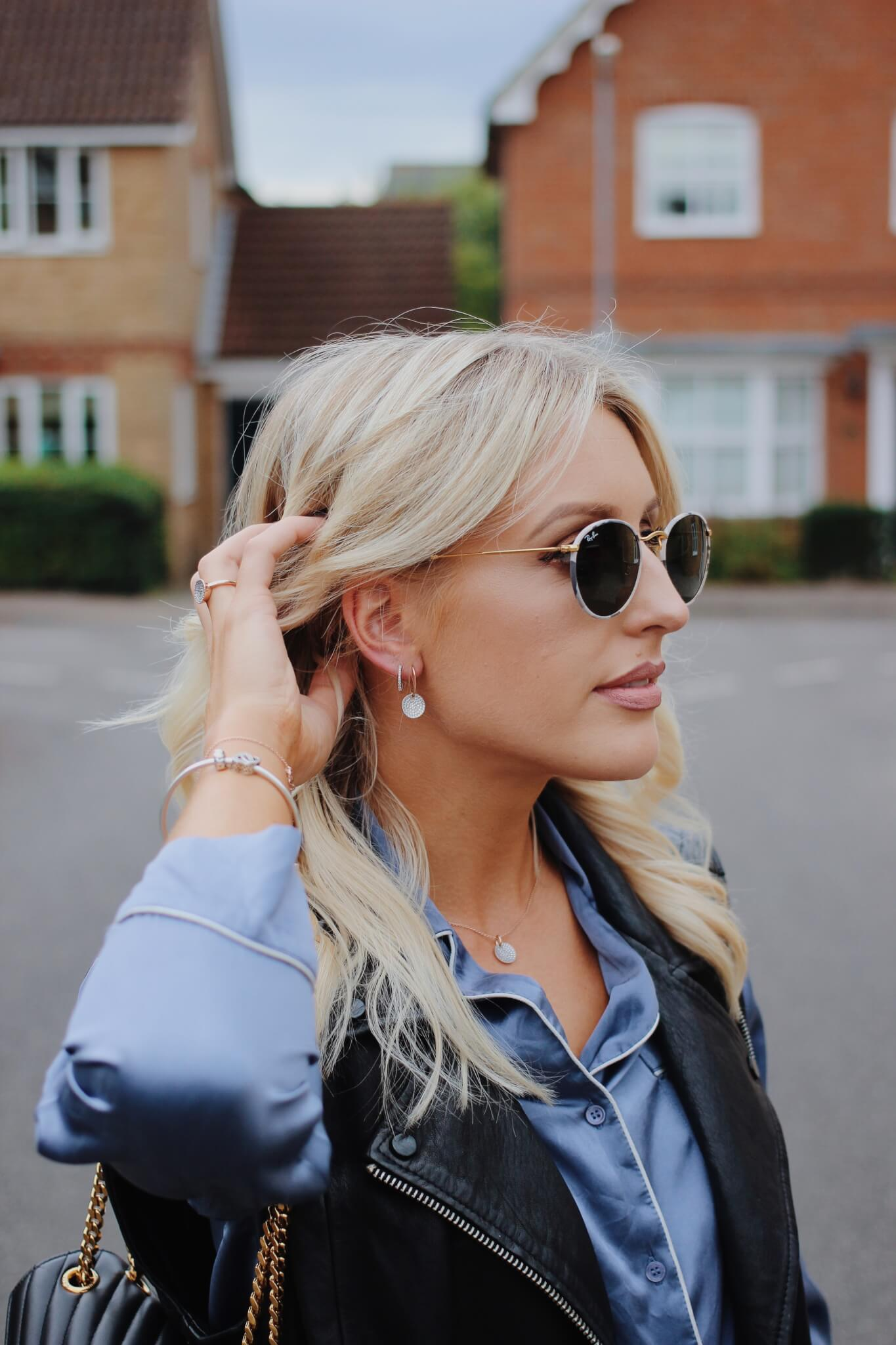 minimal jewellery on uk fashion blogger Charlotte Buttrick Lurchhoundloves