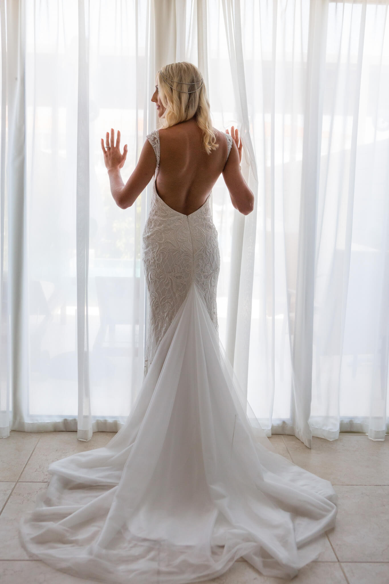 Ronald Joyce Backless Esther Wedding Dress For Abroad