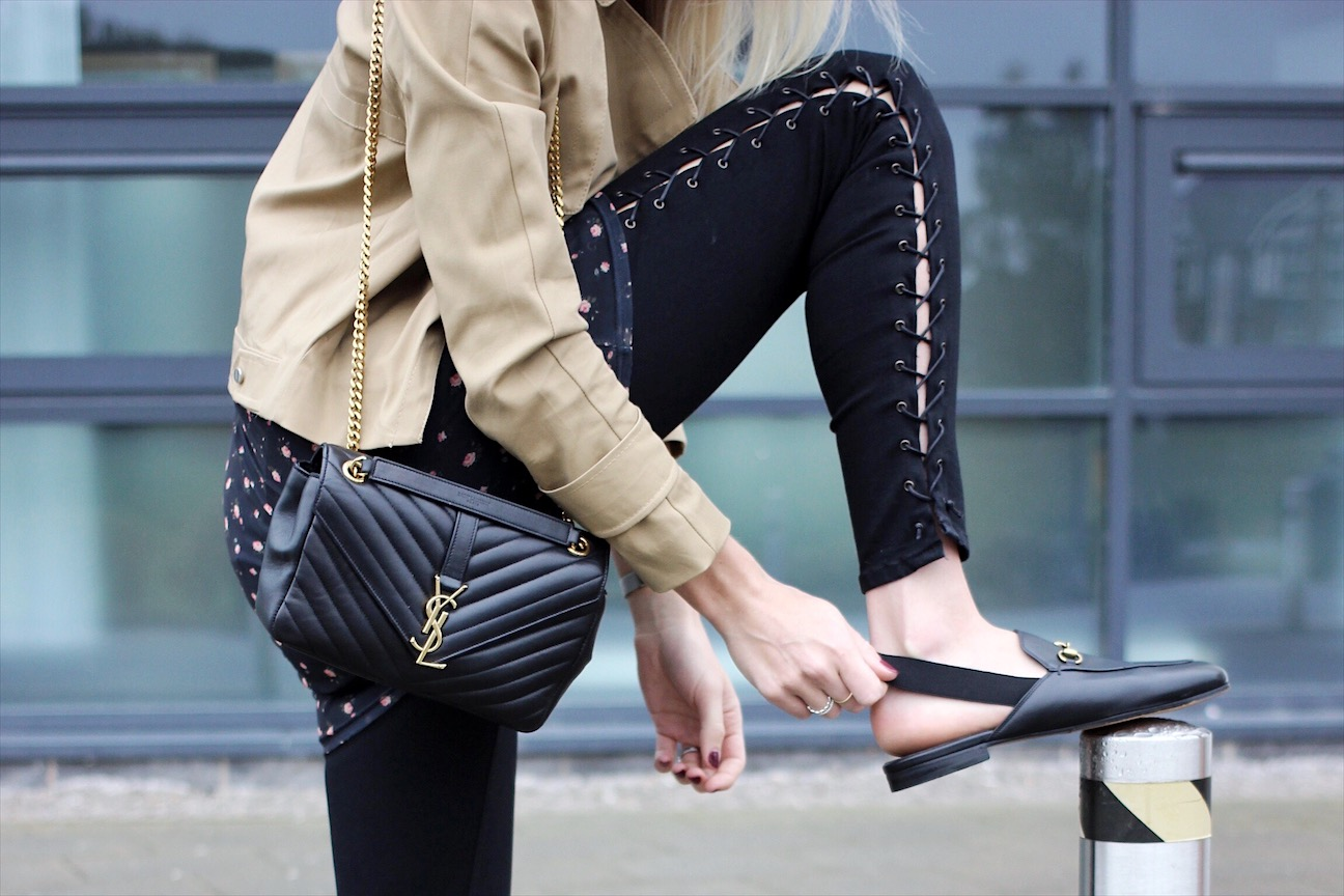 Gucci Slingback Loafers and Topshop Jamie Lace up Skinny Jeans on fashion blog