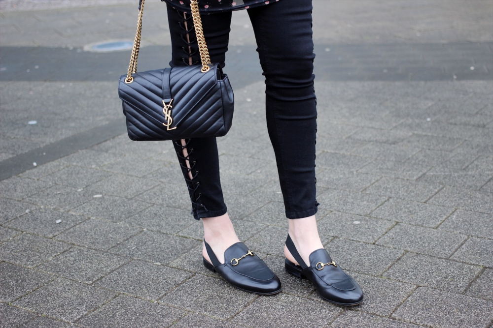 Gucci loafers and YSL bag street style inspiration