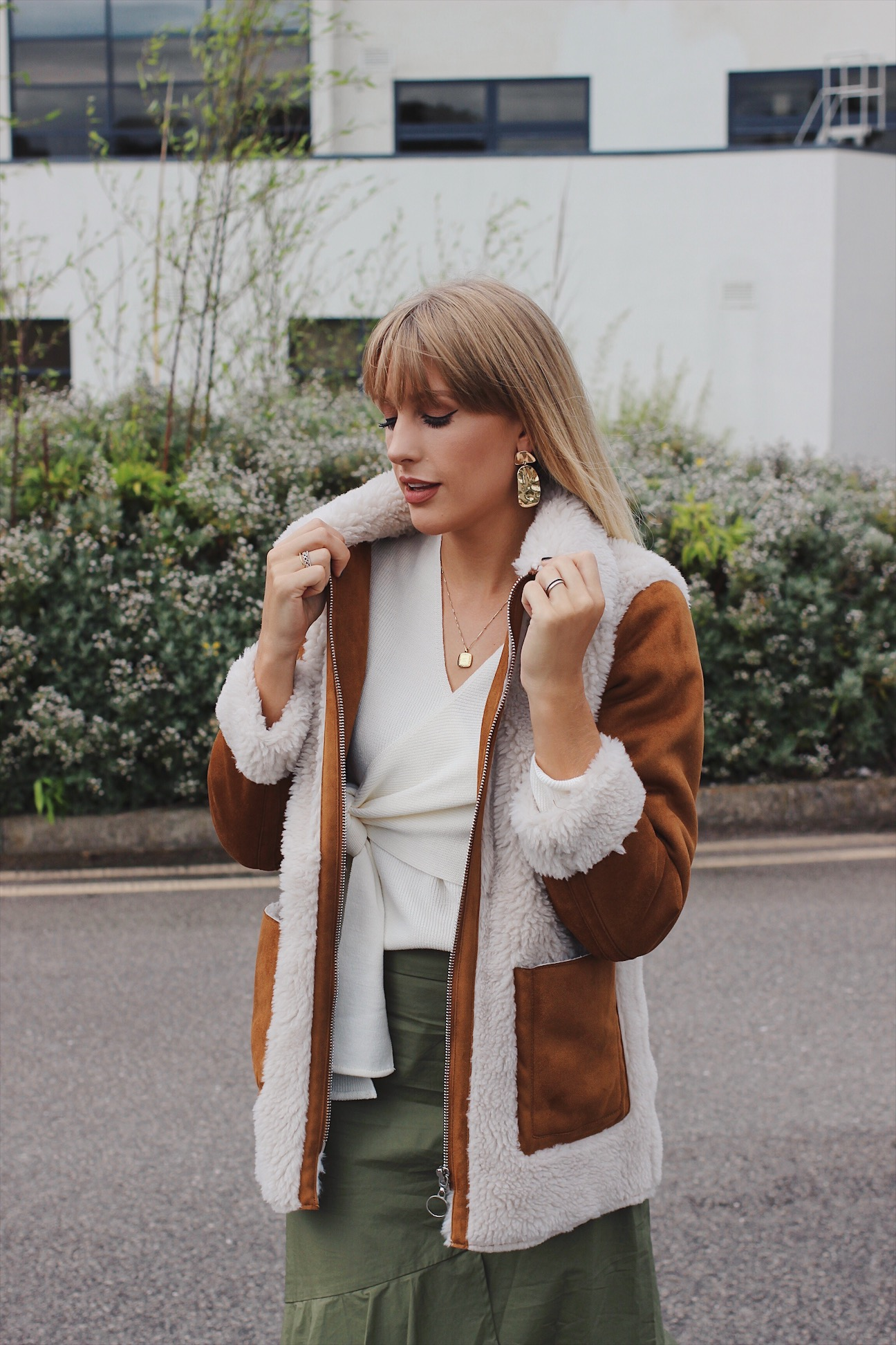 where to buy an asos shearling coat this autumn