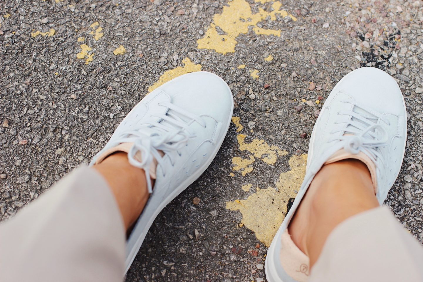 suede trainers from Ohw? in grey on style blog lurchhoundloves
