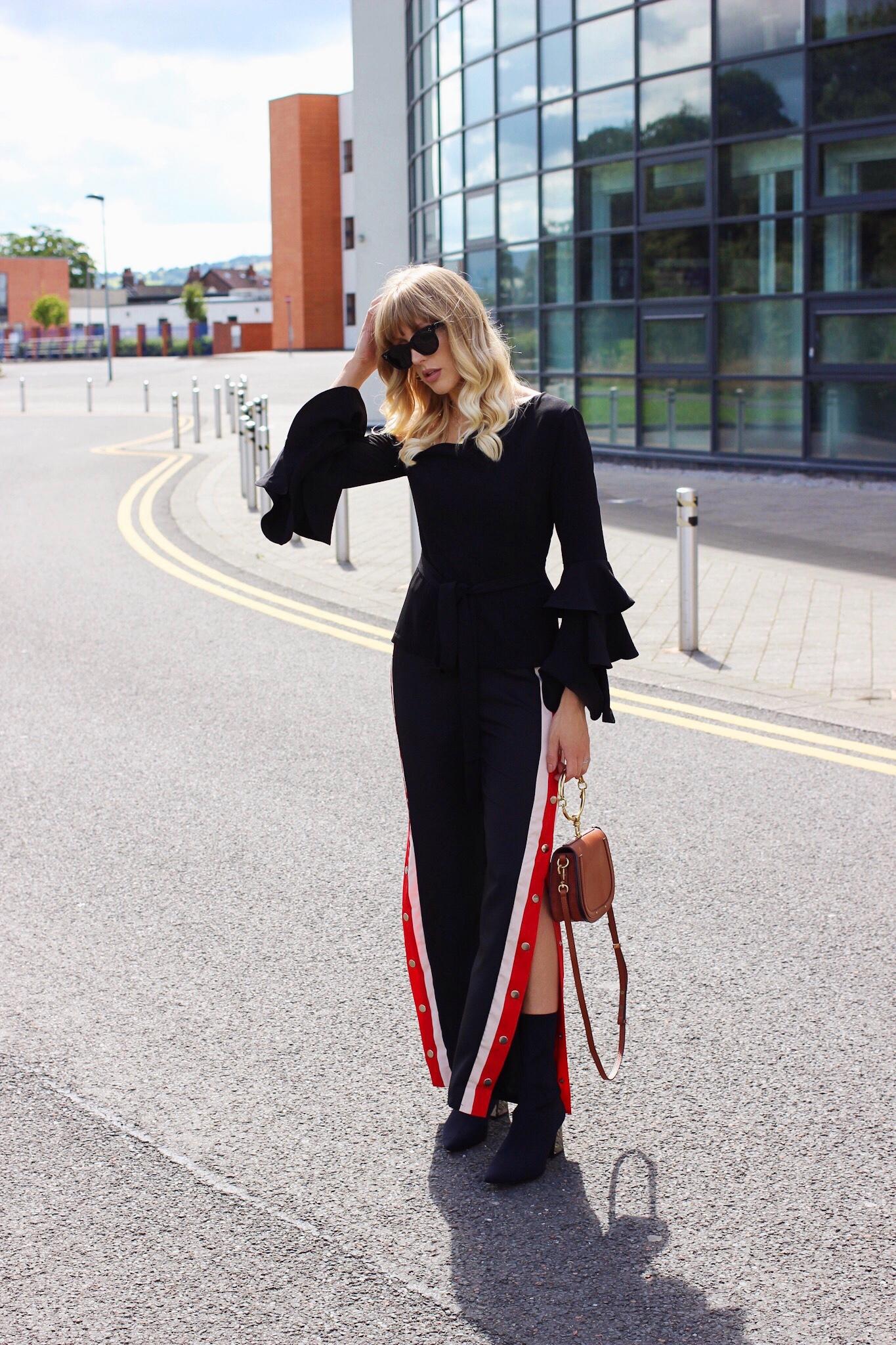 Lavish Alice black frill top street style
