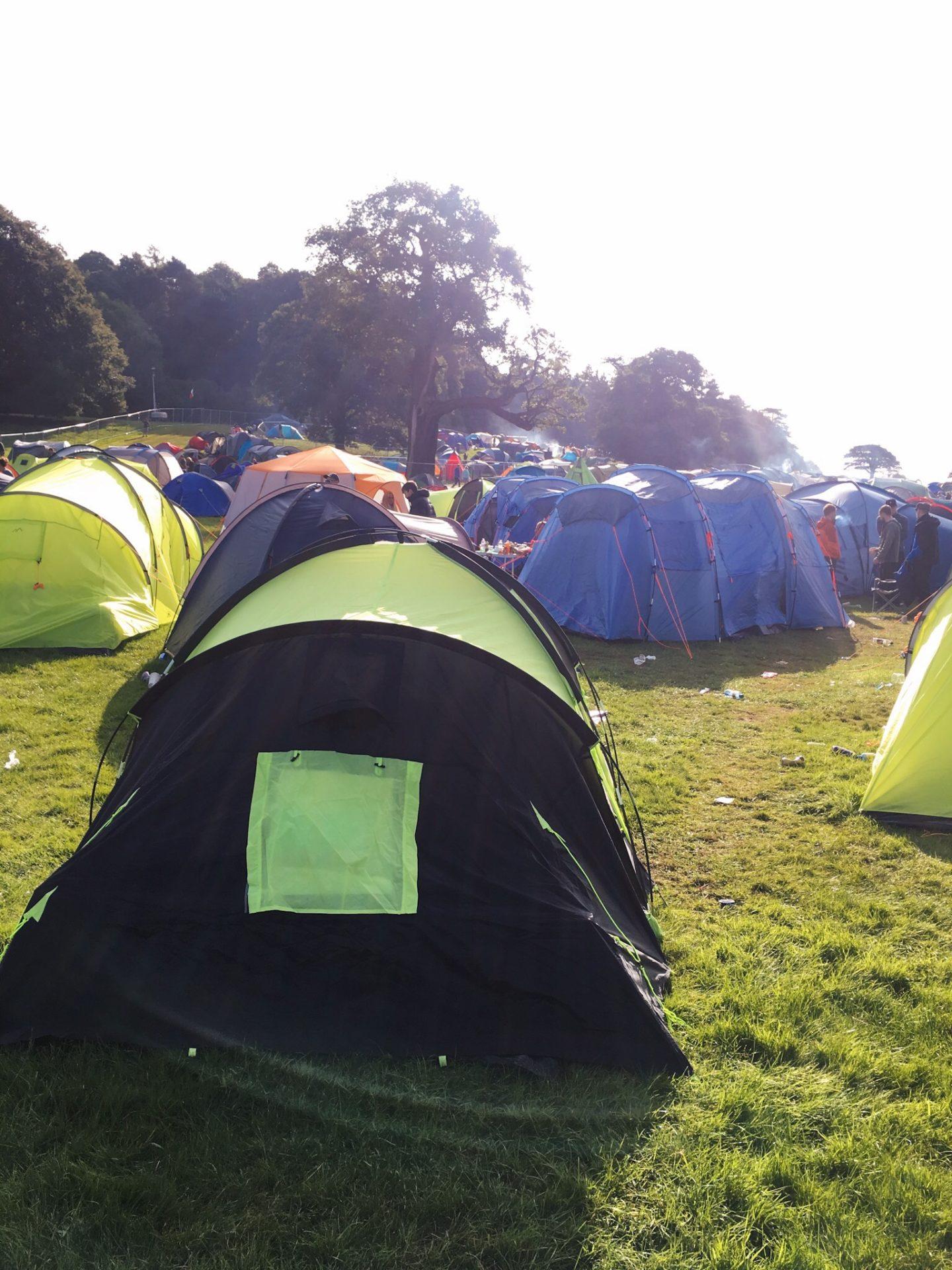 Camping at V Festival