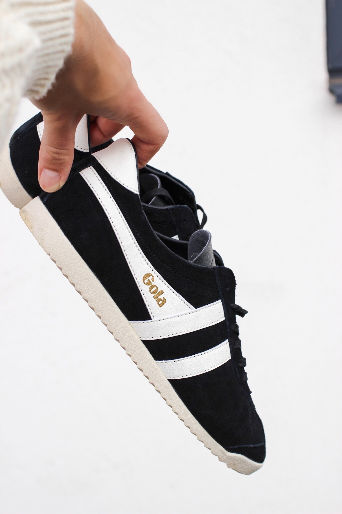 Gola Classics Suede Bullet in black and white from Manchester