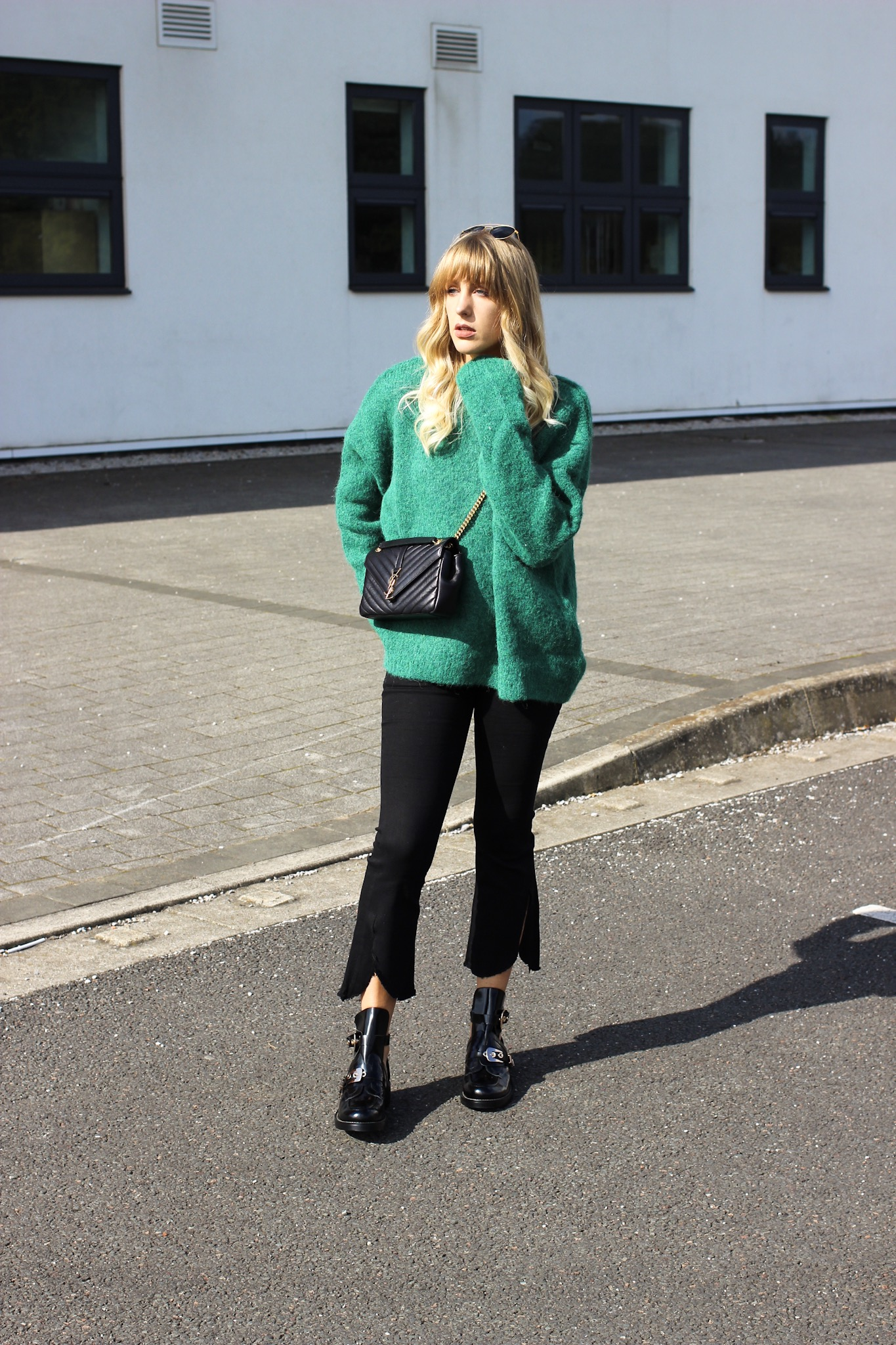H&M green jumper for autumn on style blog