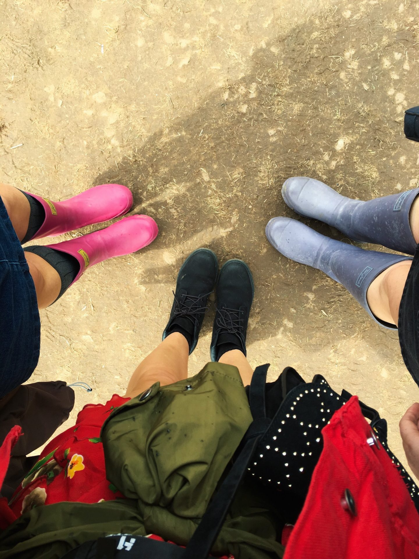 WELLIES AND TIMBERLAND BOOTS AT V FESTIVAL