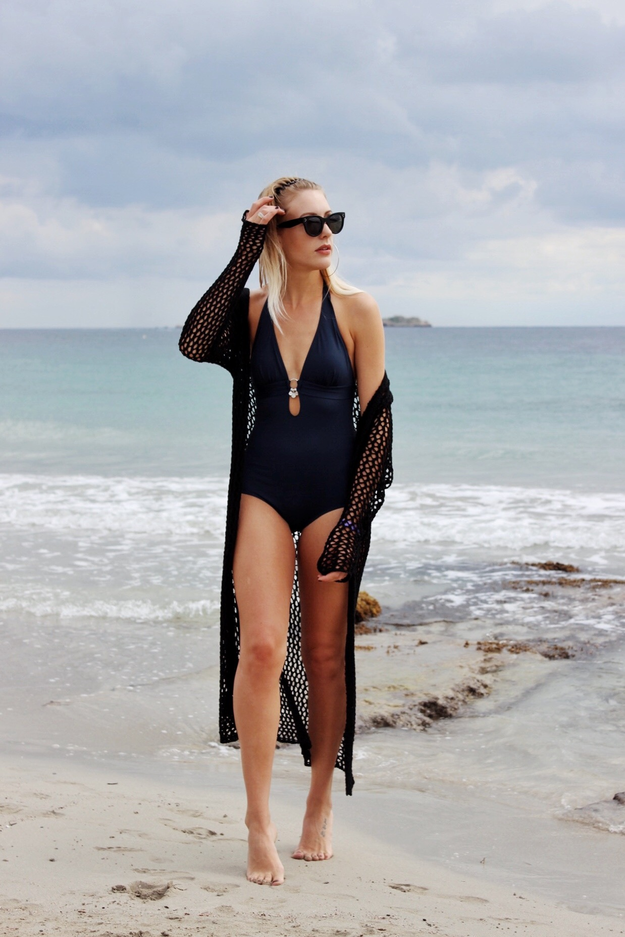 how to style a swimsuit for the beach