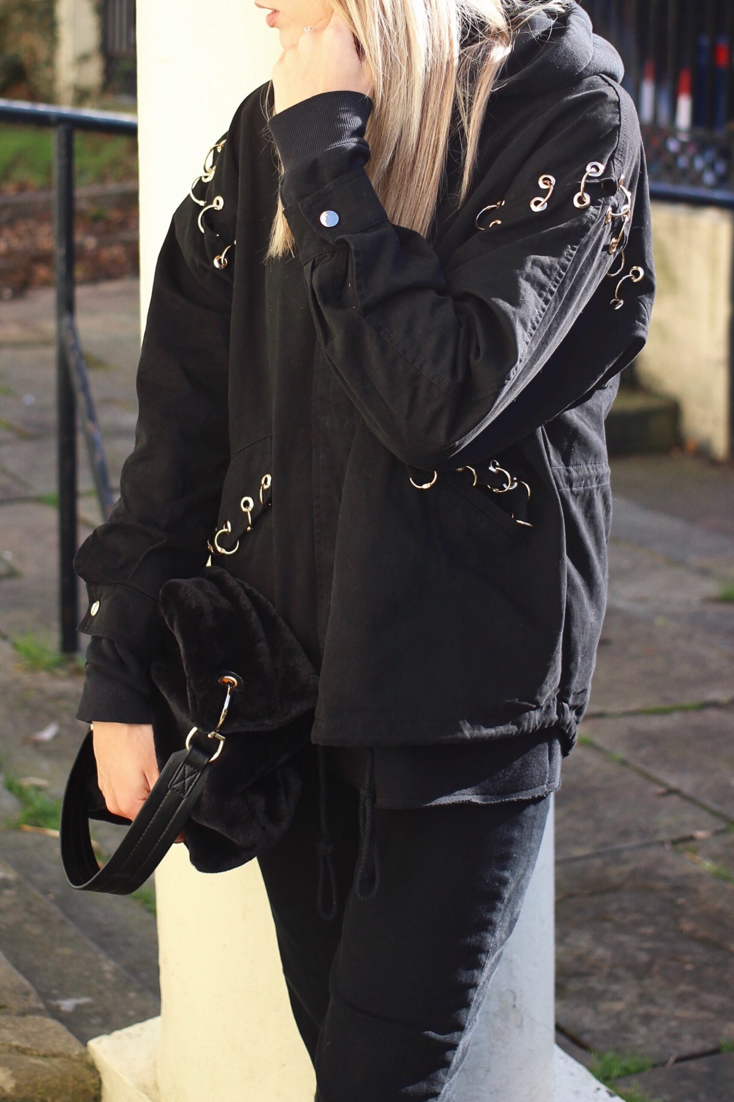 I Saw It First Denim Jacket With Rings Style Blog
