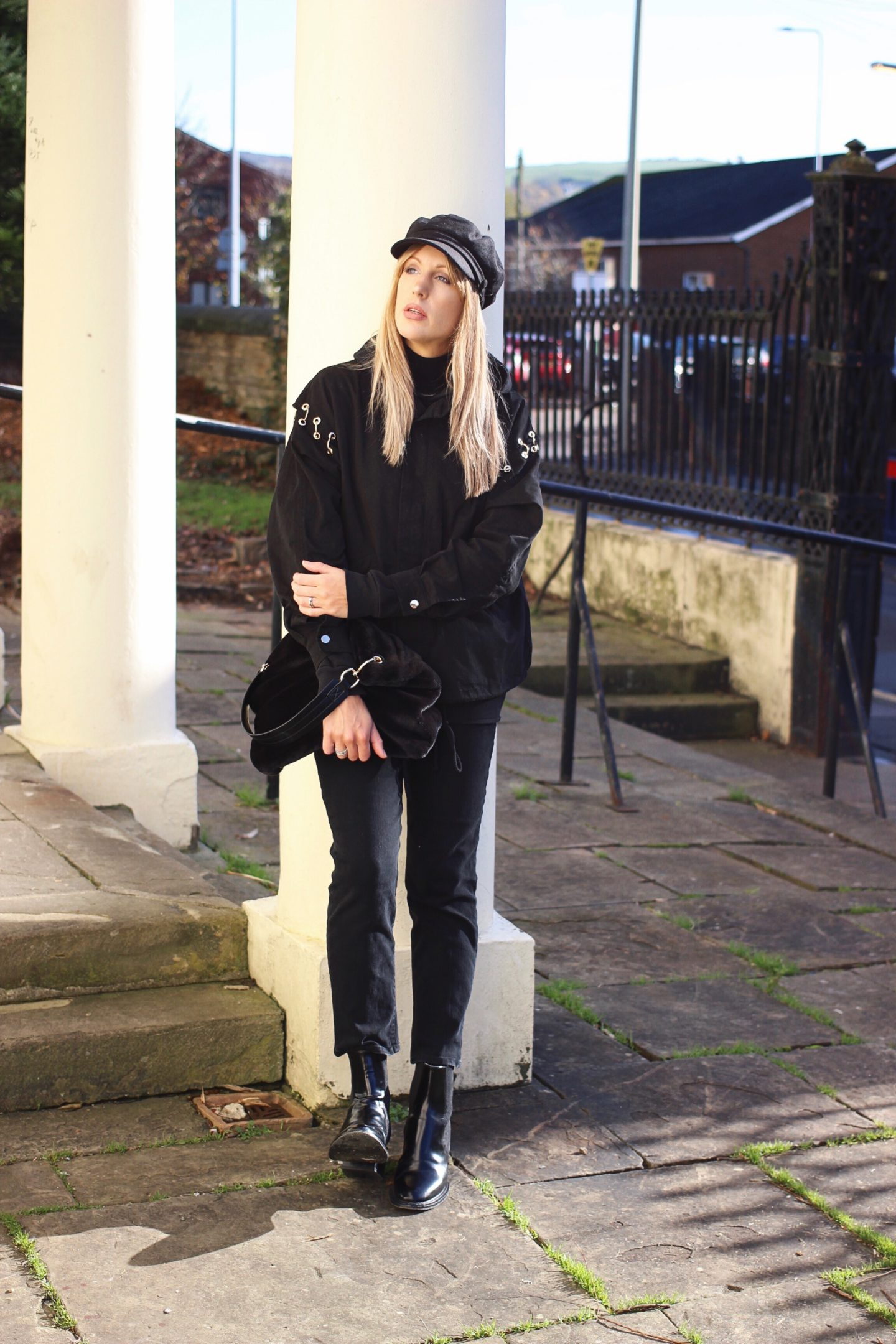 Weekend all black outfit street style