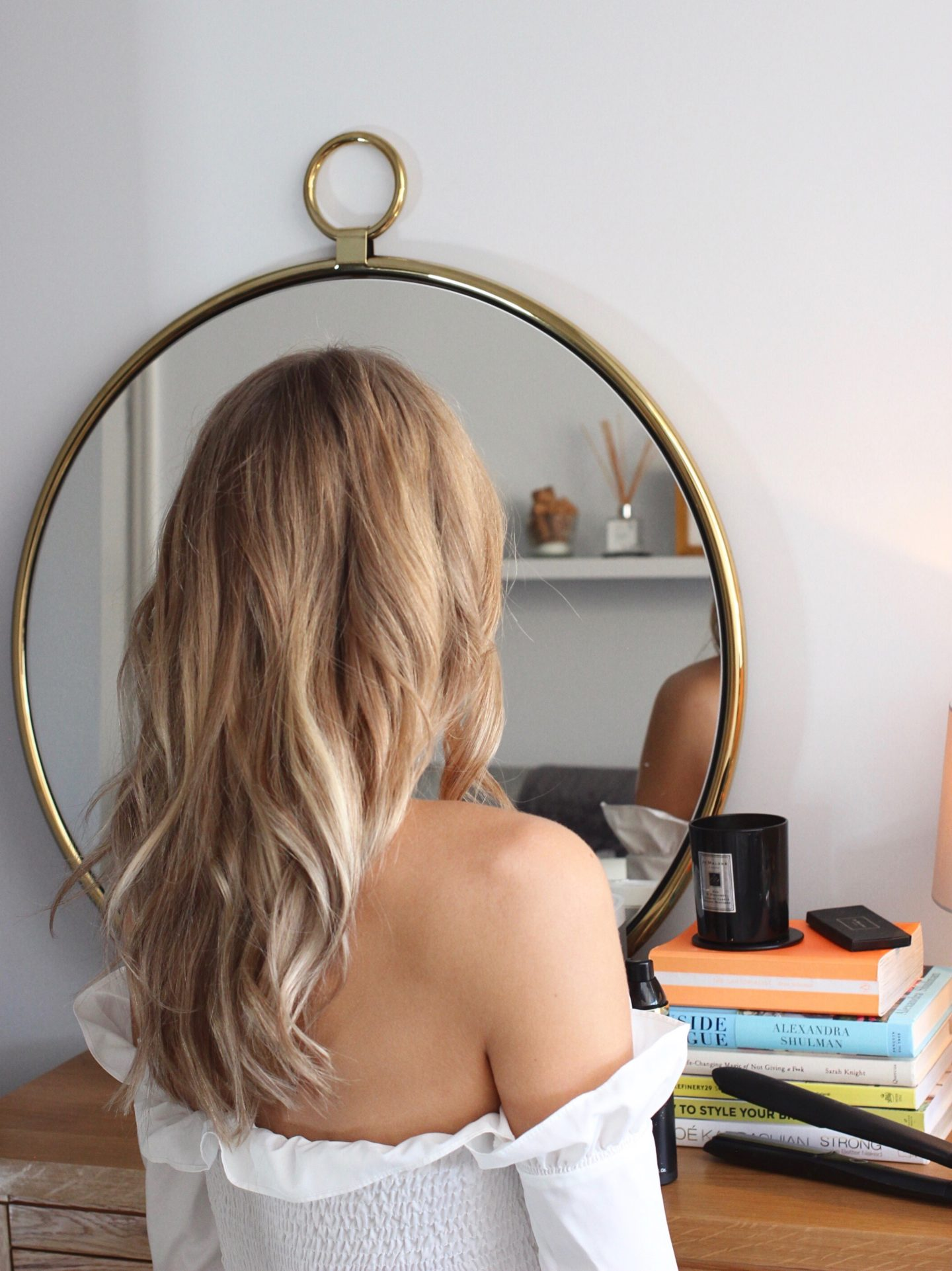 creating messy waves with the ghd platinum styler uk