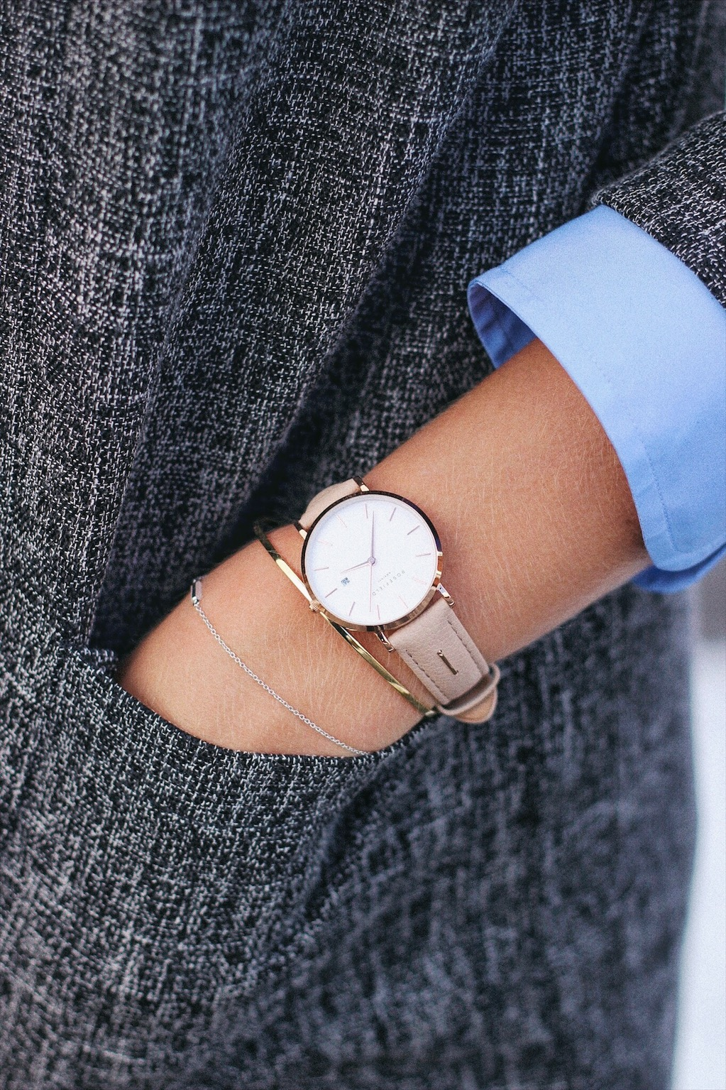 Rosefield watch on style blog