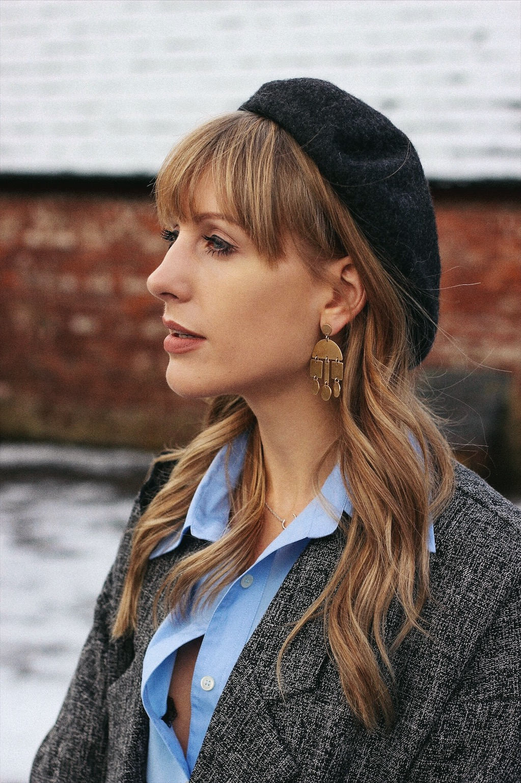 Beret street style inspiration on style blog