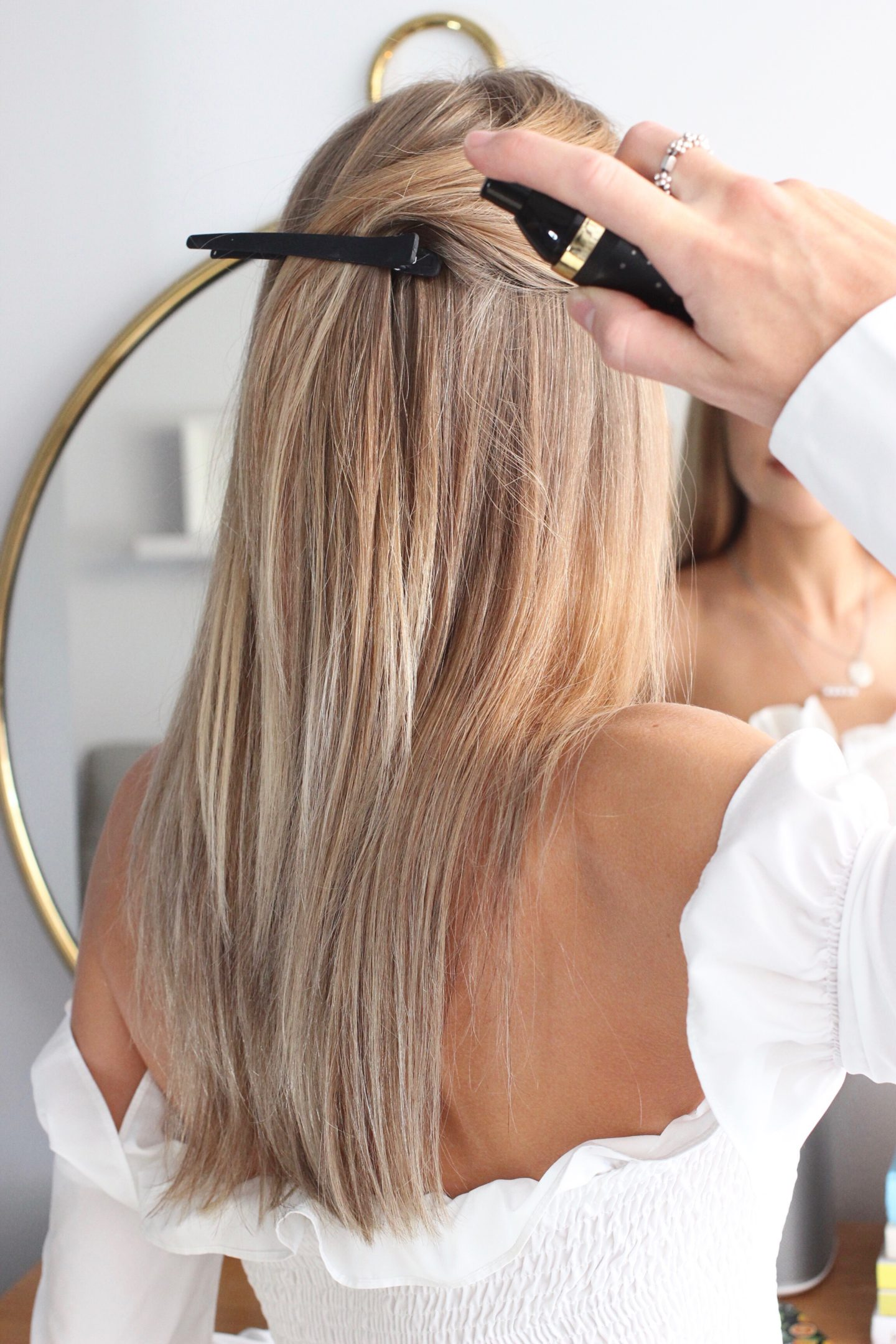 bronde hair on UK fashion blogger