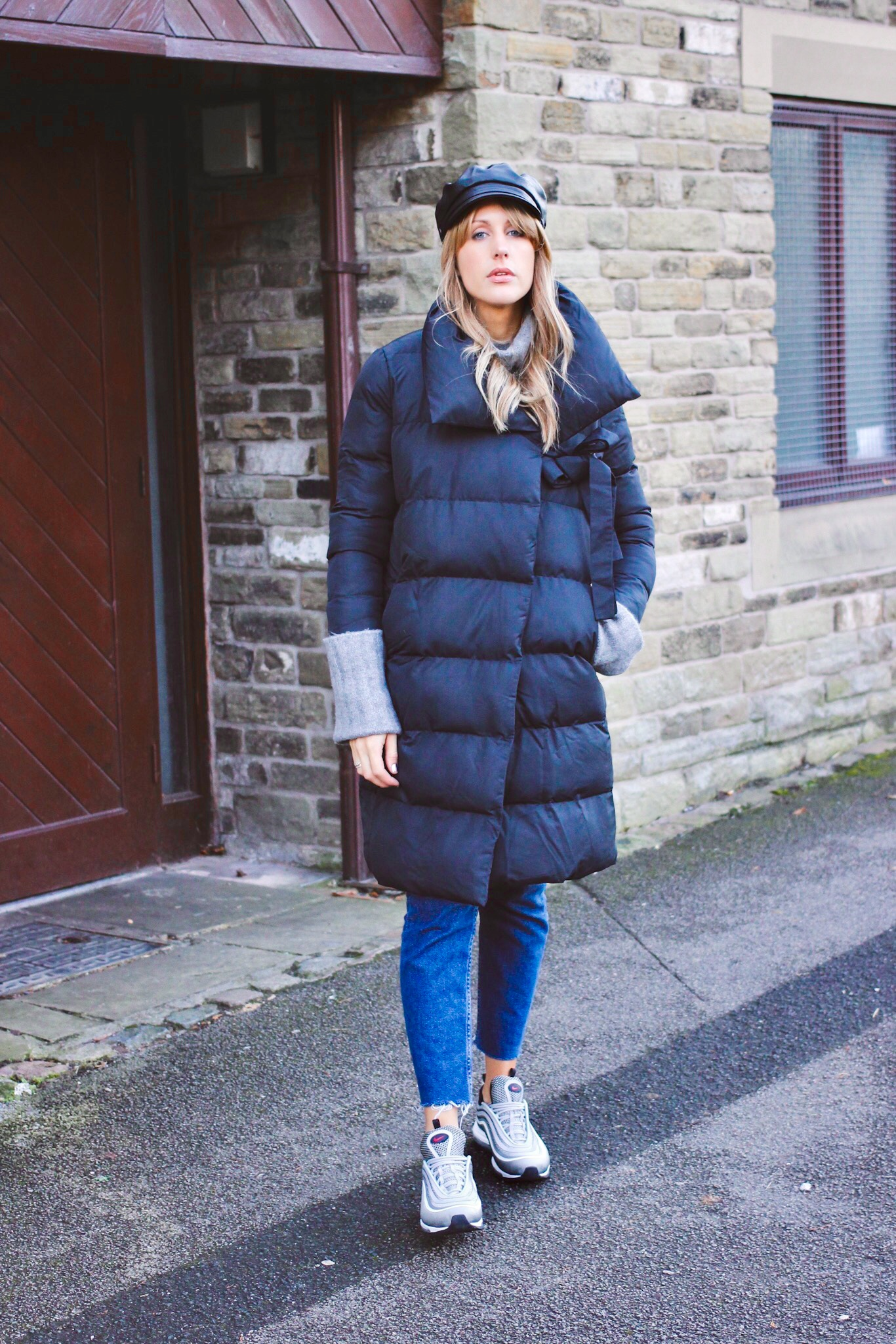 padded jacket street style