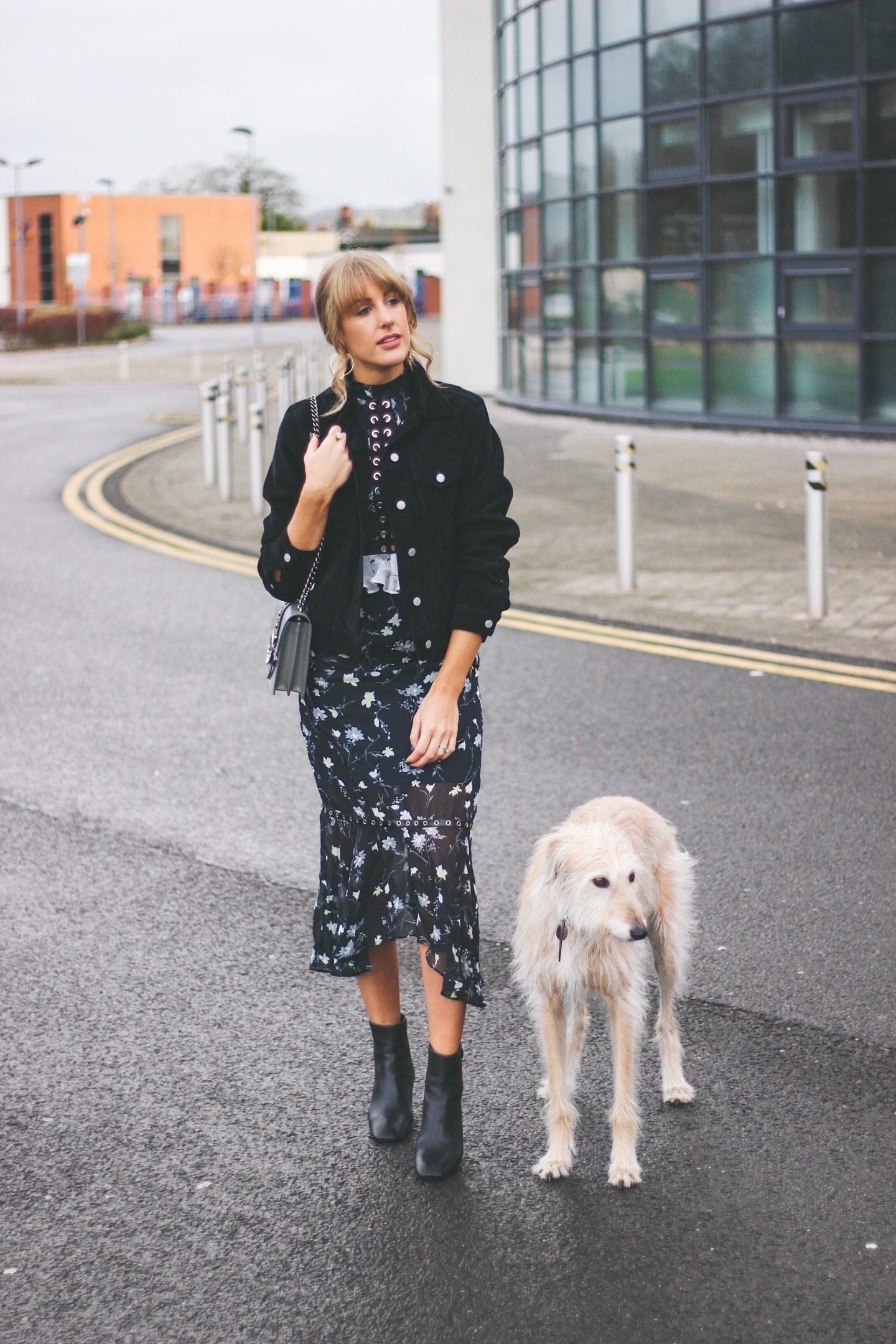 Glamorous midi dress on affordable fashion blog