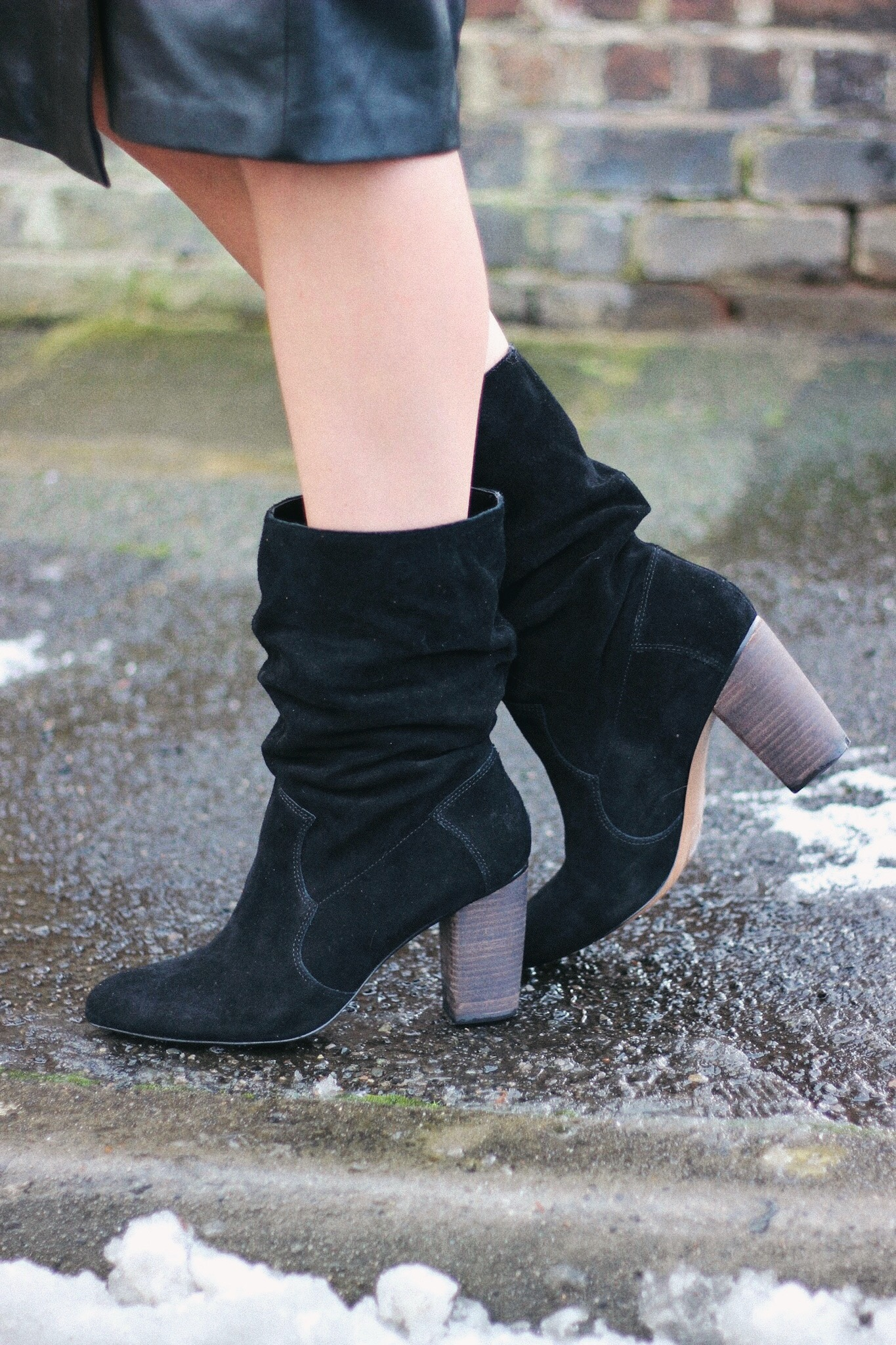 Suede slouch boots from Next street style