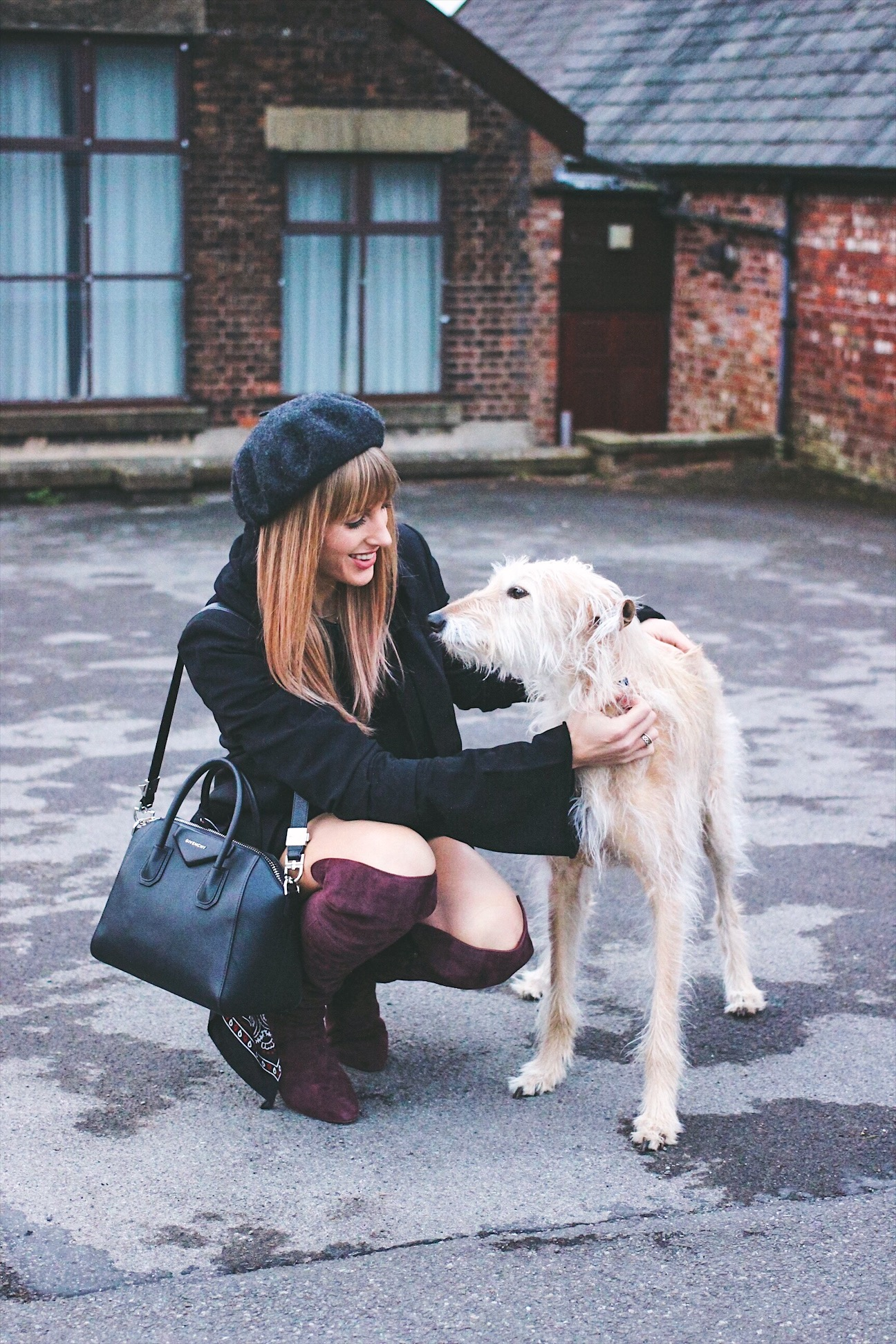 Fashion bloggers and their pets Charlotte Buttrick and Lurcher Brody