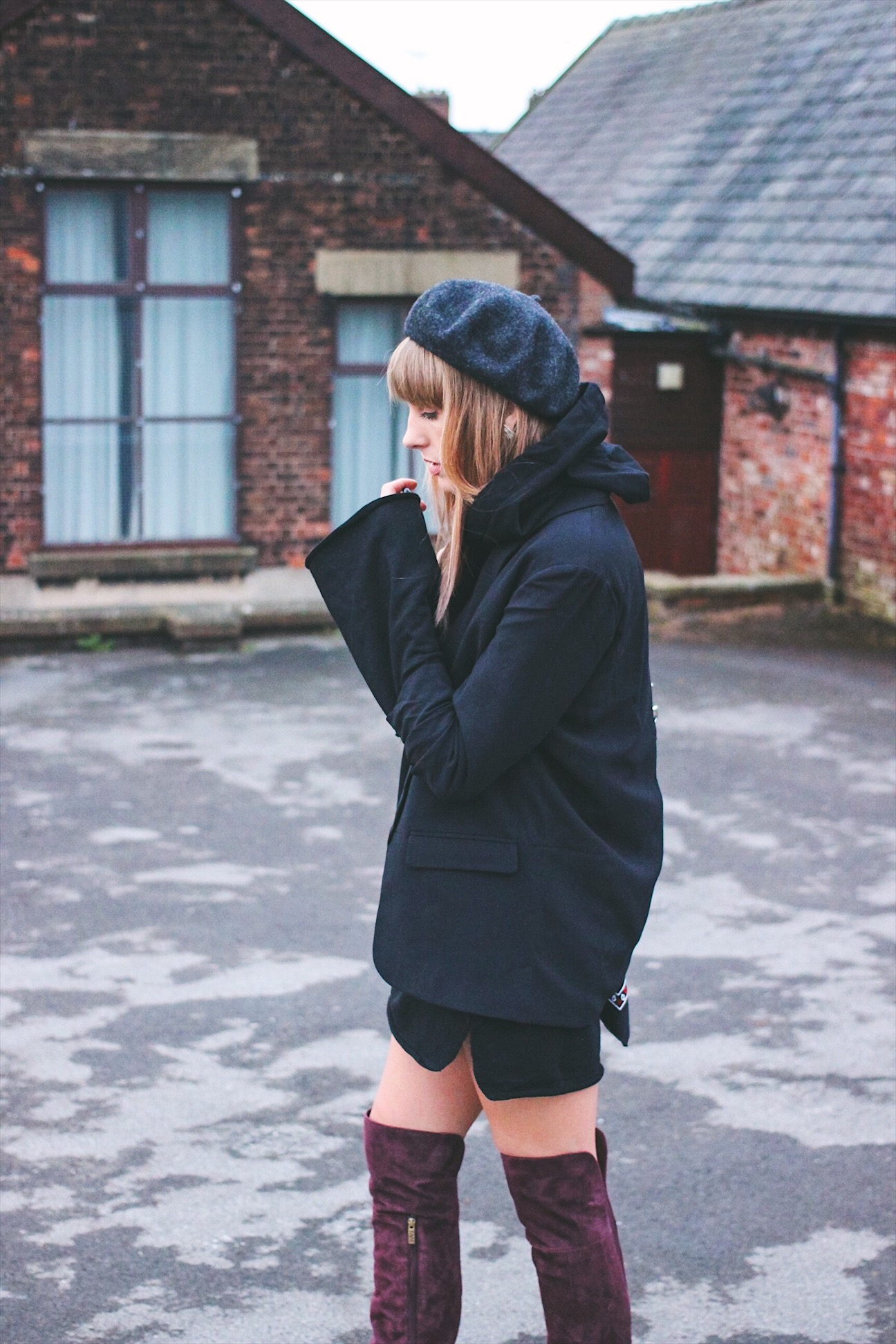 Hoodie dress on UK style blog Lurchhoundloves