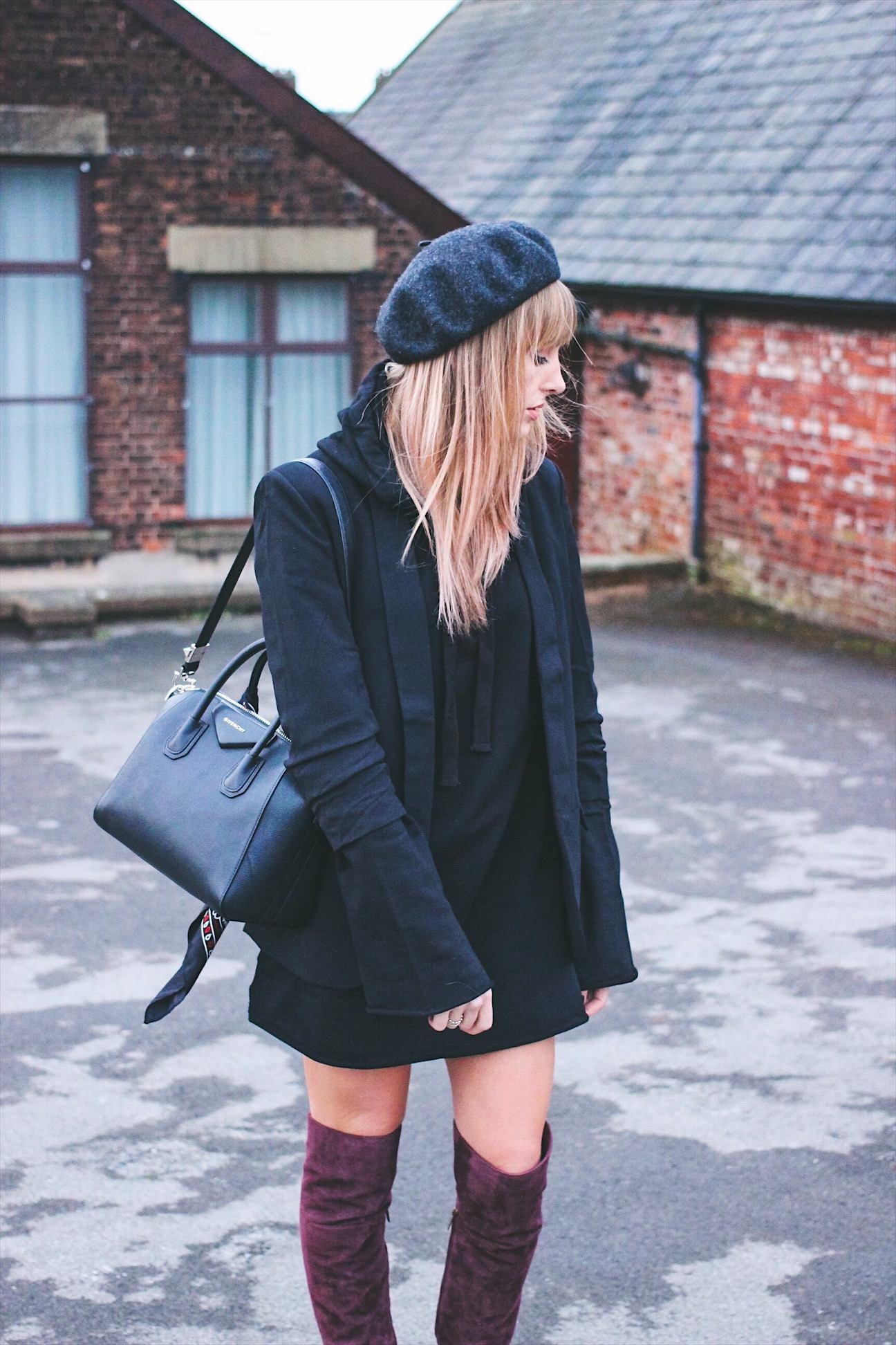 How to wear a hooded LBJD dress - Little Black Jumper Dress