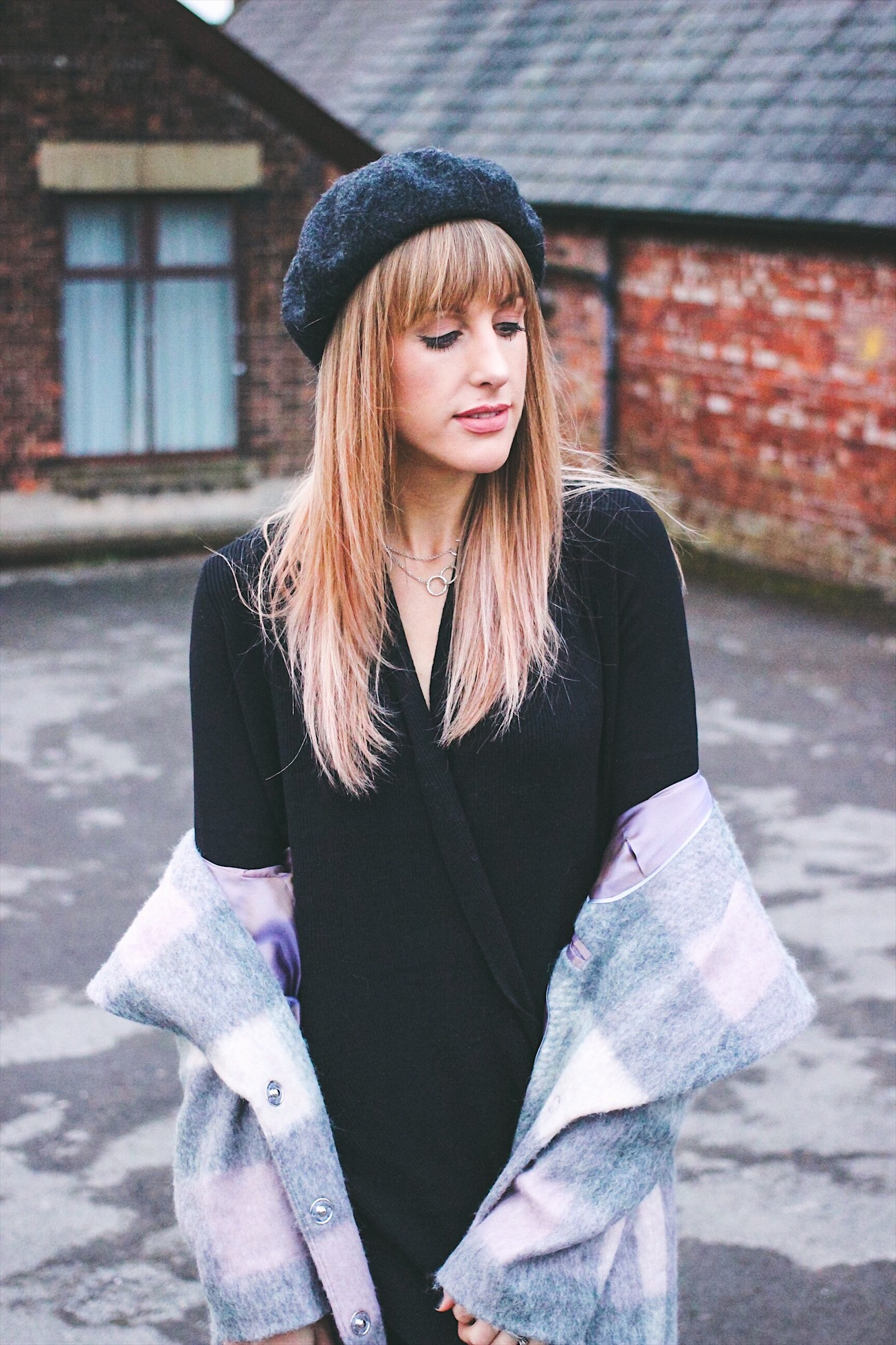 Topshop beret on UK Fashion Blogger Charlotte Buttrick