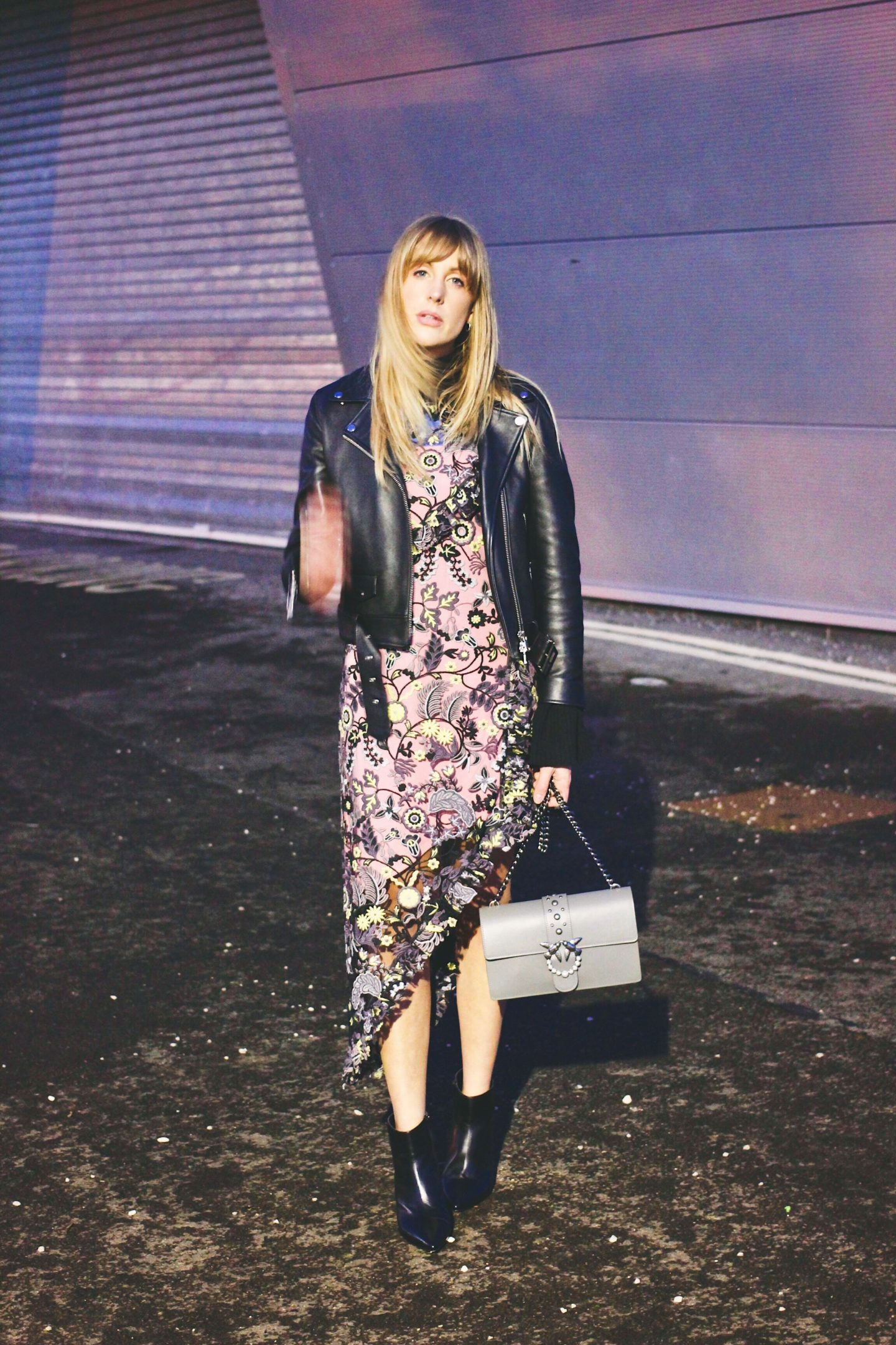 Whole9Yards Toga Garden Dress on fashion blogger Charlotte Buttrick