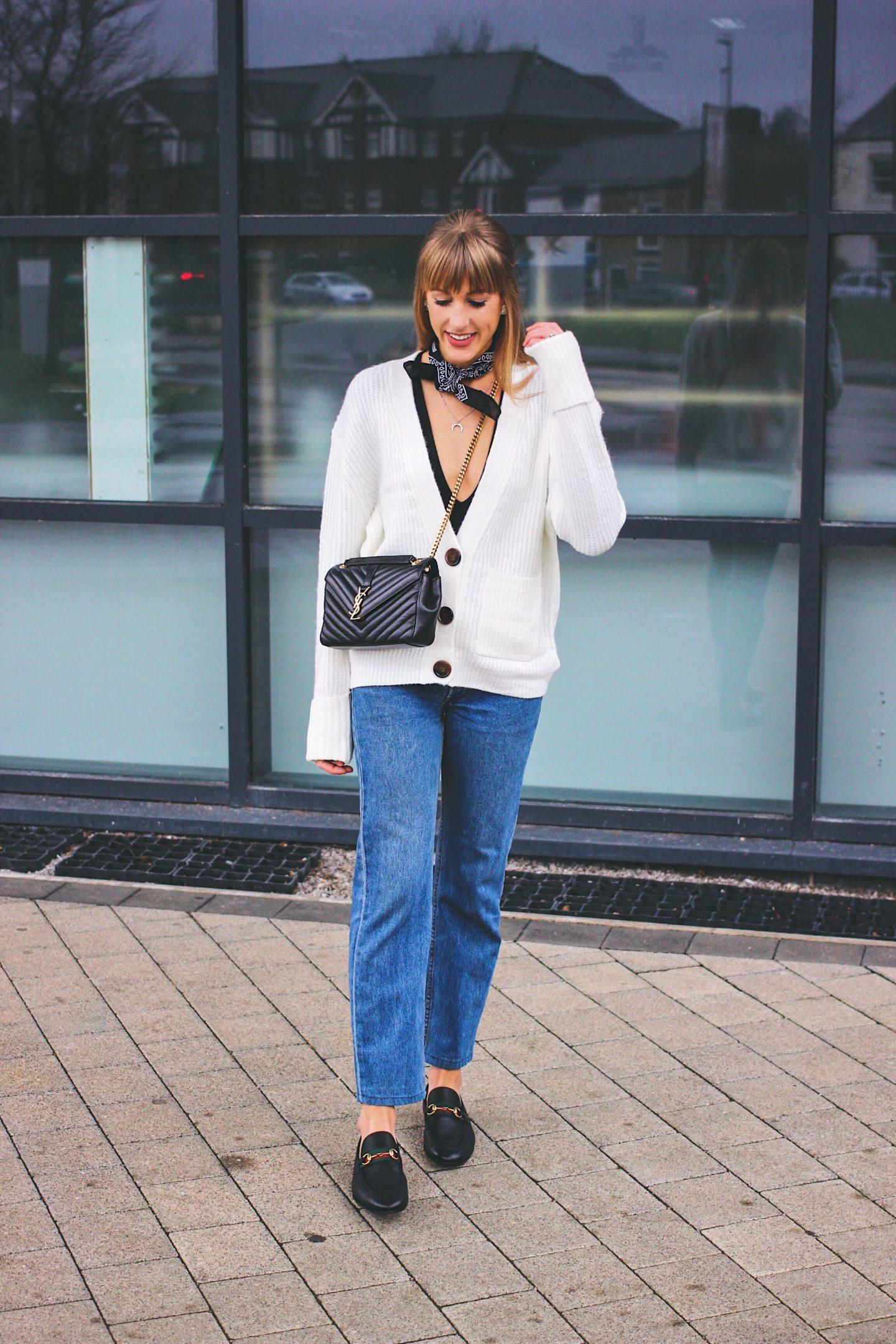 cardigan street style inspiration on UK style blogger