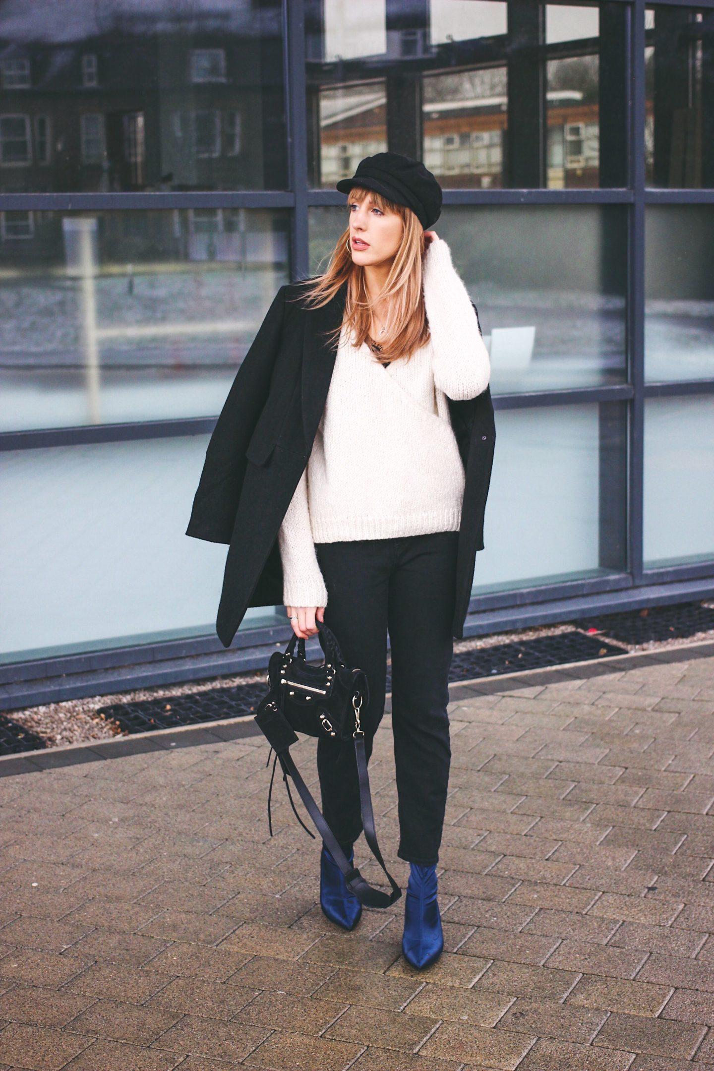 how to style navy ankle boots